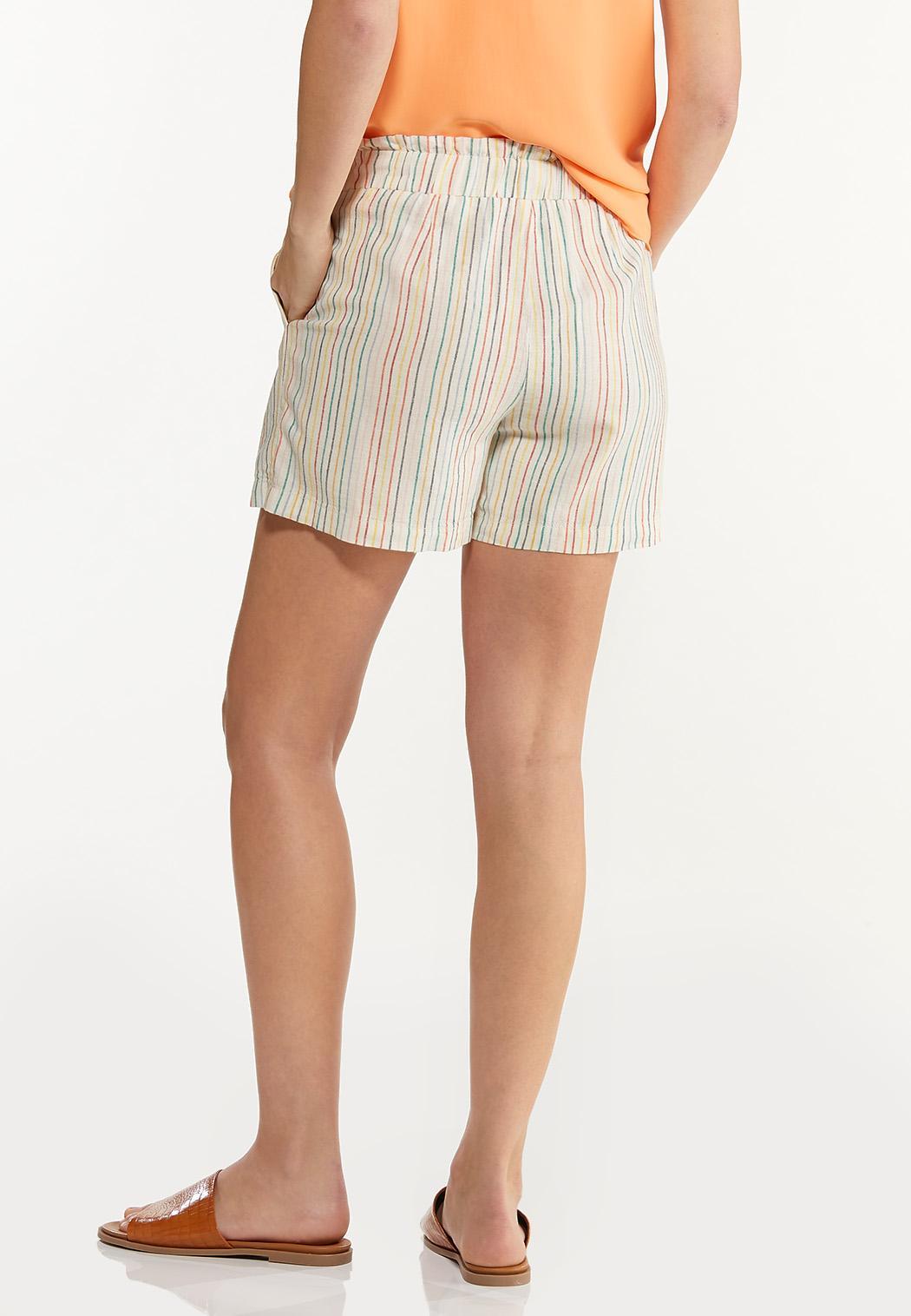 Rainbow Stripe Linen Shorts (Item #44523429)