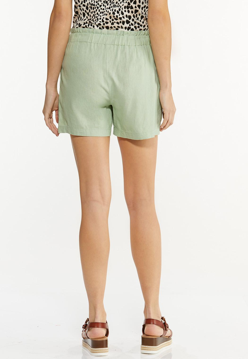 Green Linen Shorts (Item #44523491)
