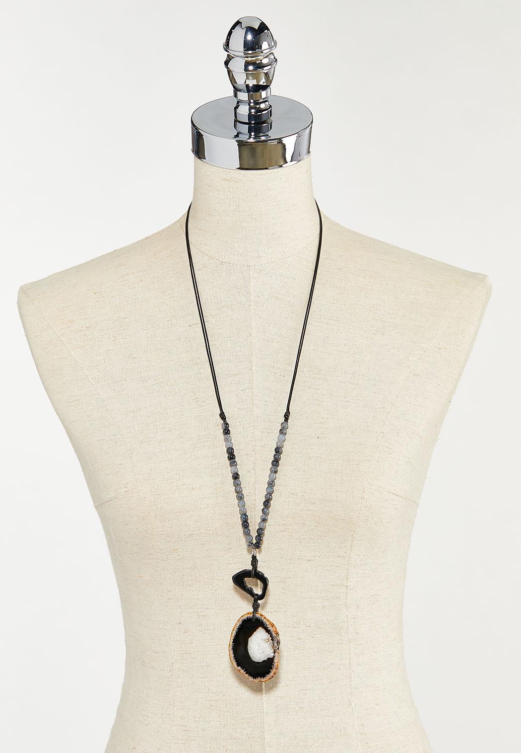 Agate Pendant Necklace (Item #44523628)