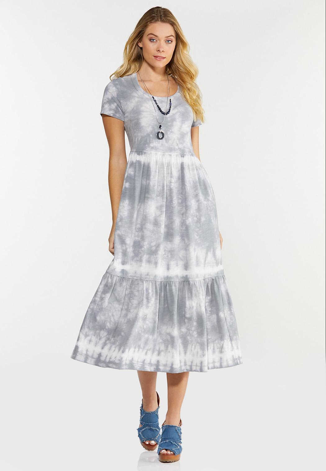 Plus Size Tiered Tie Dye Dress (Item #44524221)