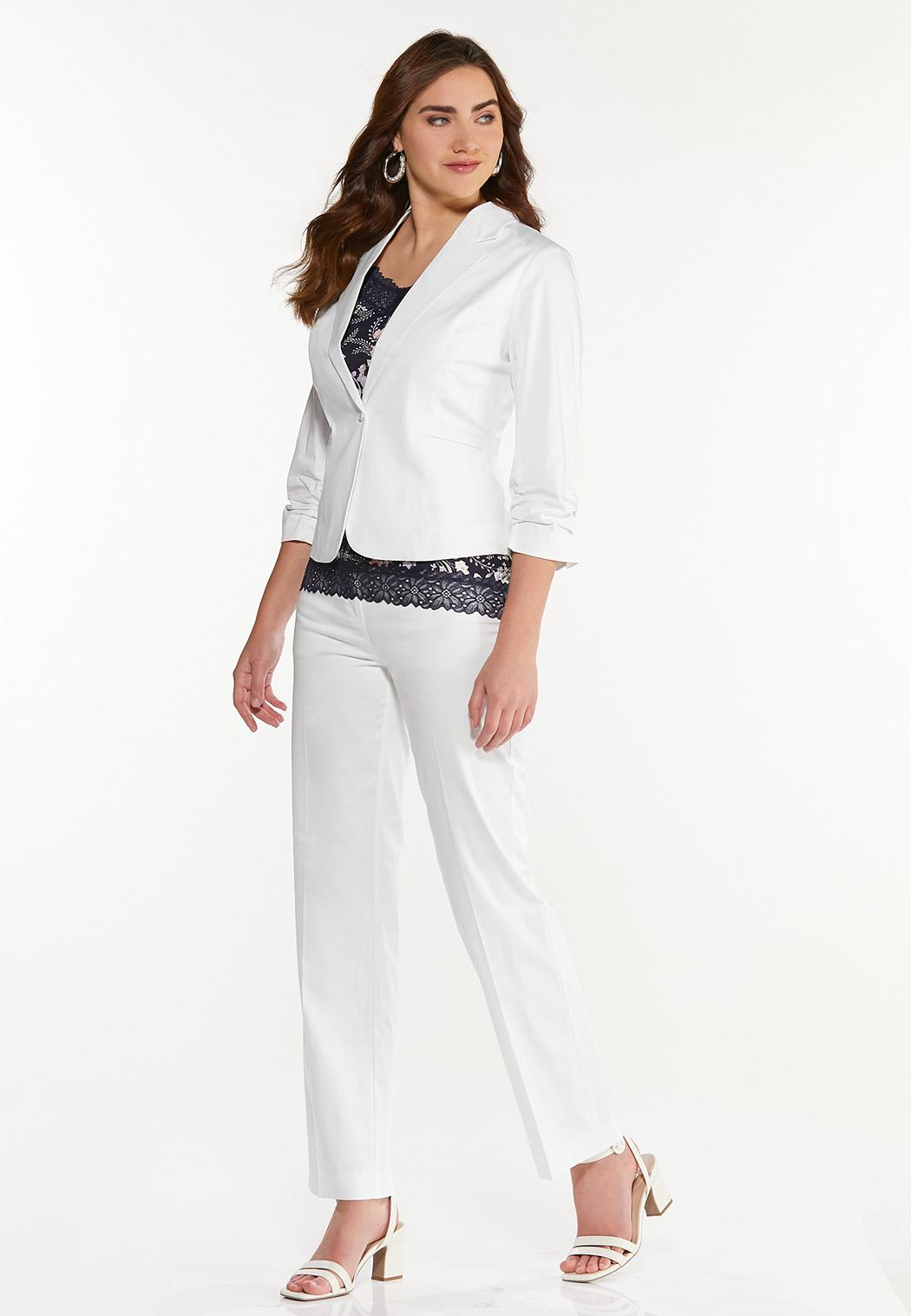 Petite Sateen Trouser Pants (Item #44524407)