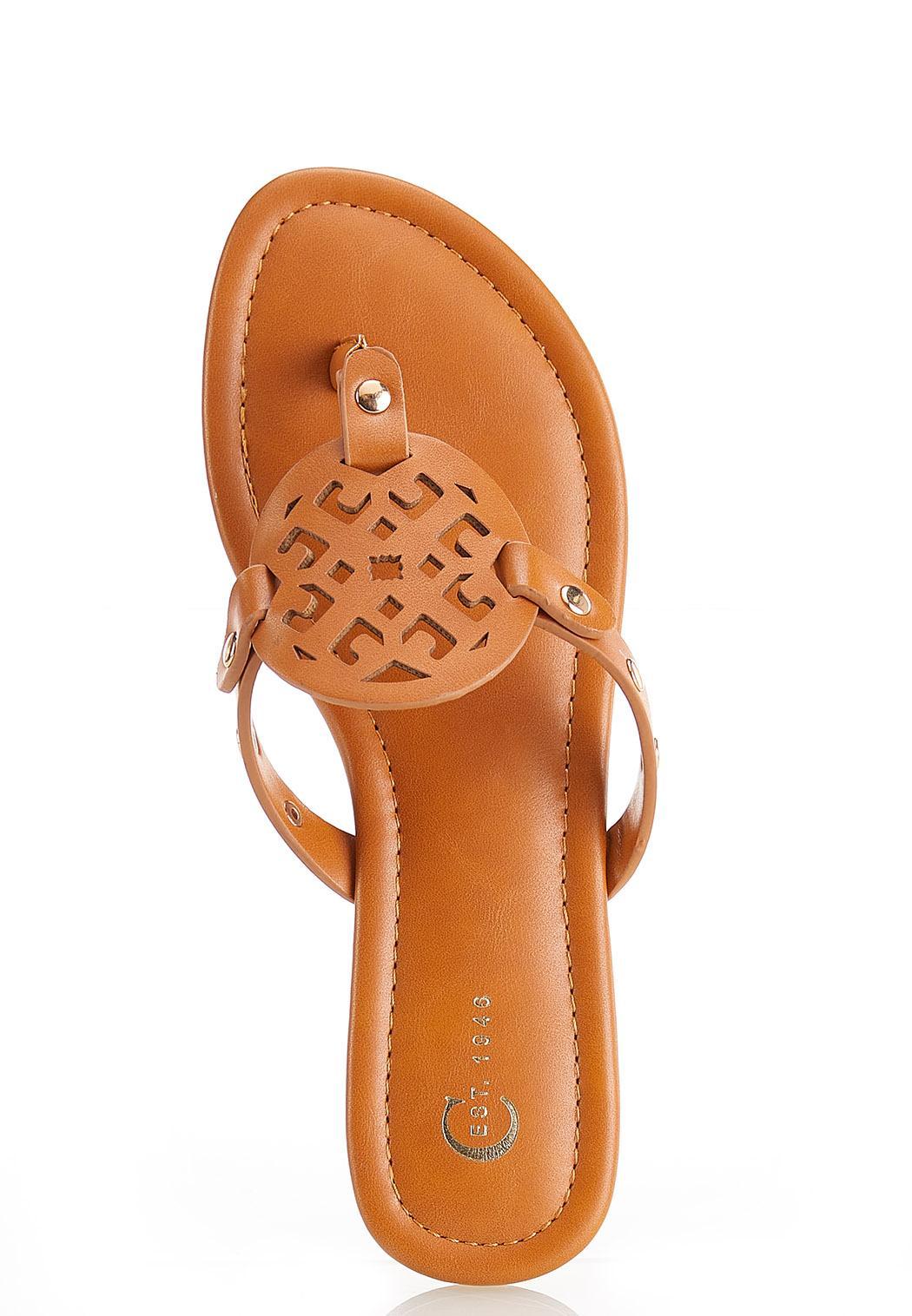 Faux Leather Medallion Sandals (Item #44524623)