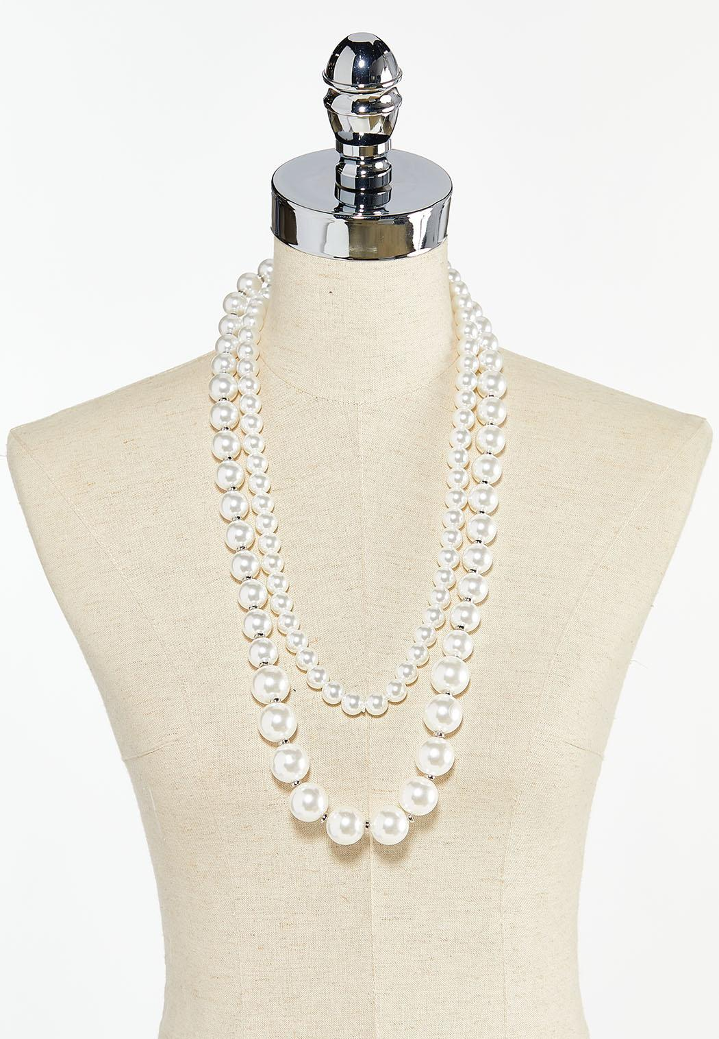 Graduated Pearl Necklace (Item #44524690)