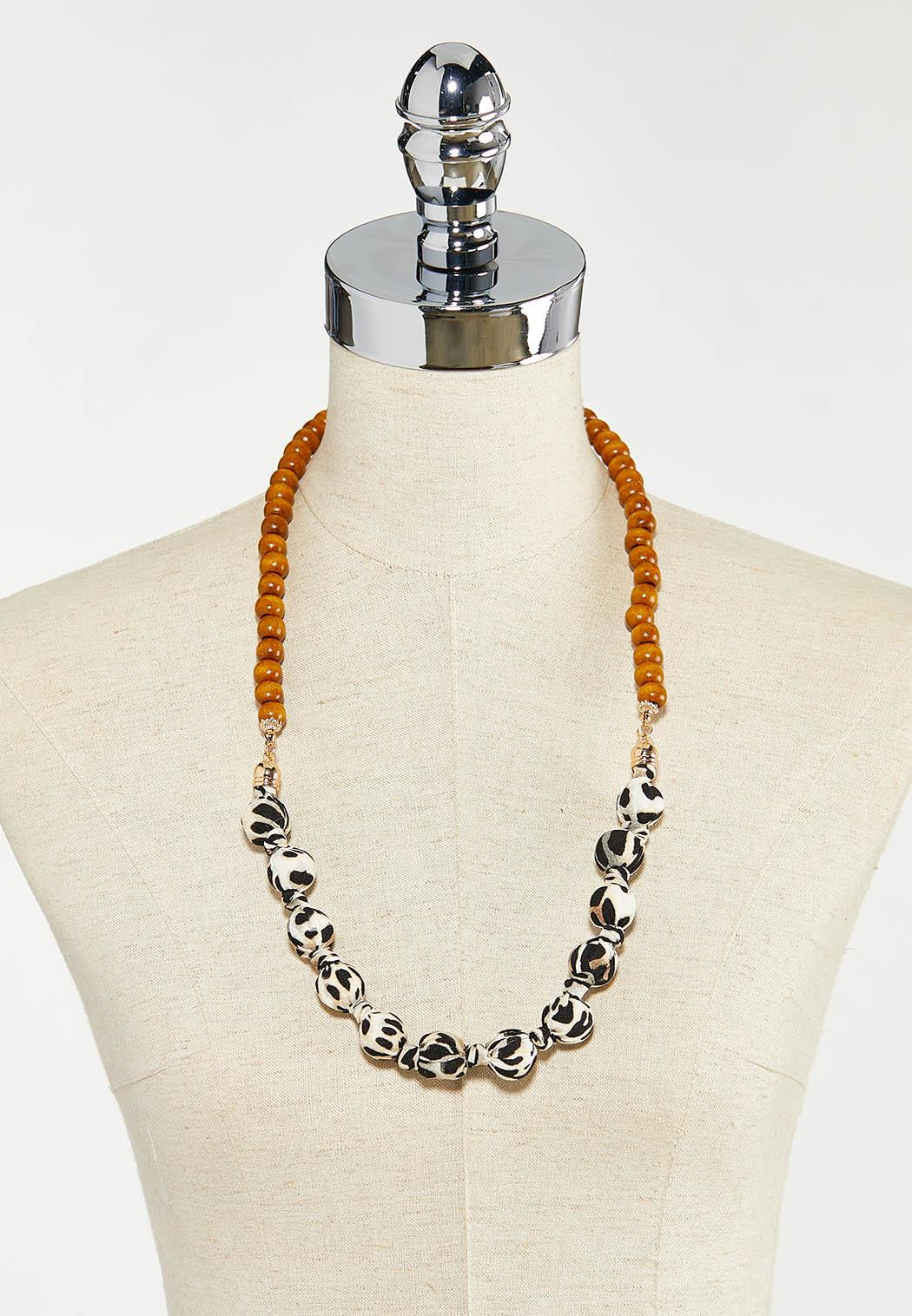 Fabric Wrapped Ball Necklace (Item #44524714)