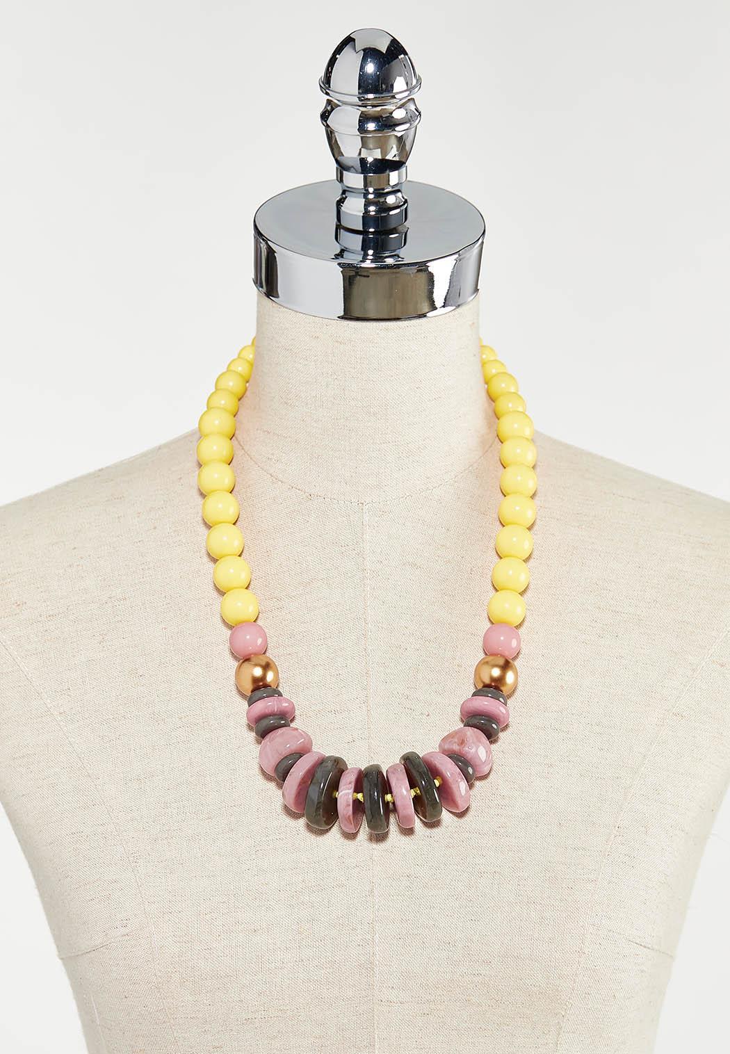 Multi Color Disc Bead Necklace (Item #44524748)