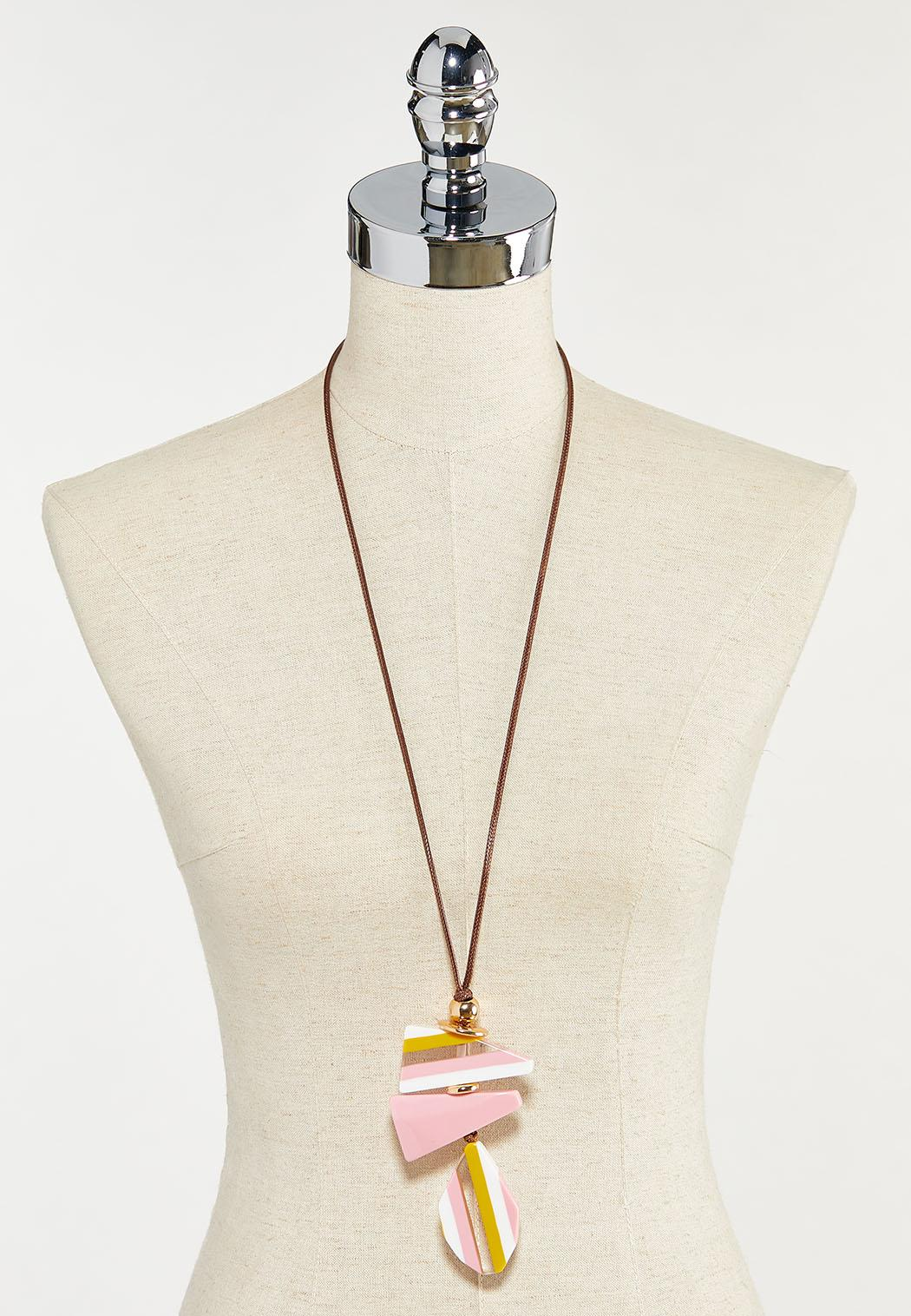 Lucite Pendant Cord Necklace (Item #44524811)