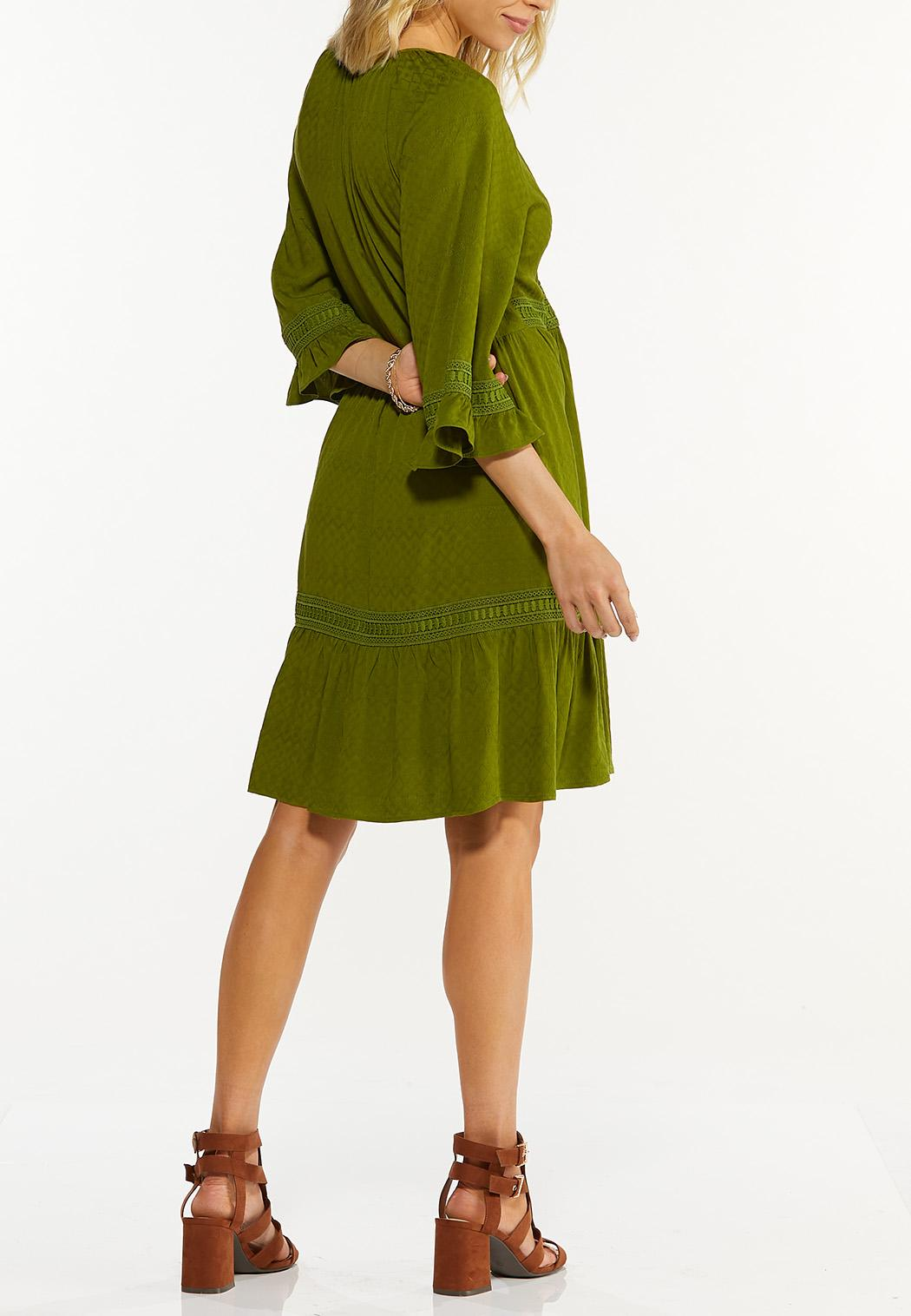 Green Lace Trim Babydoll Dress (Item #44525142)