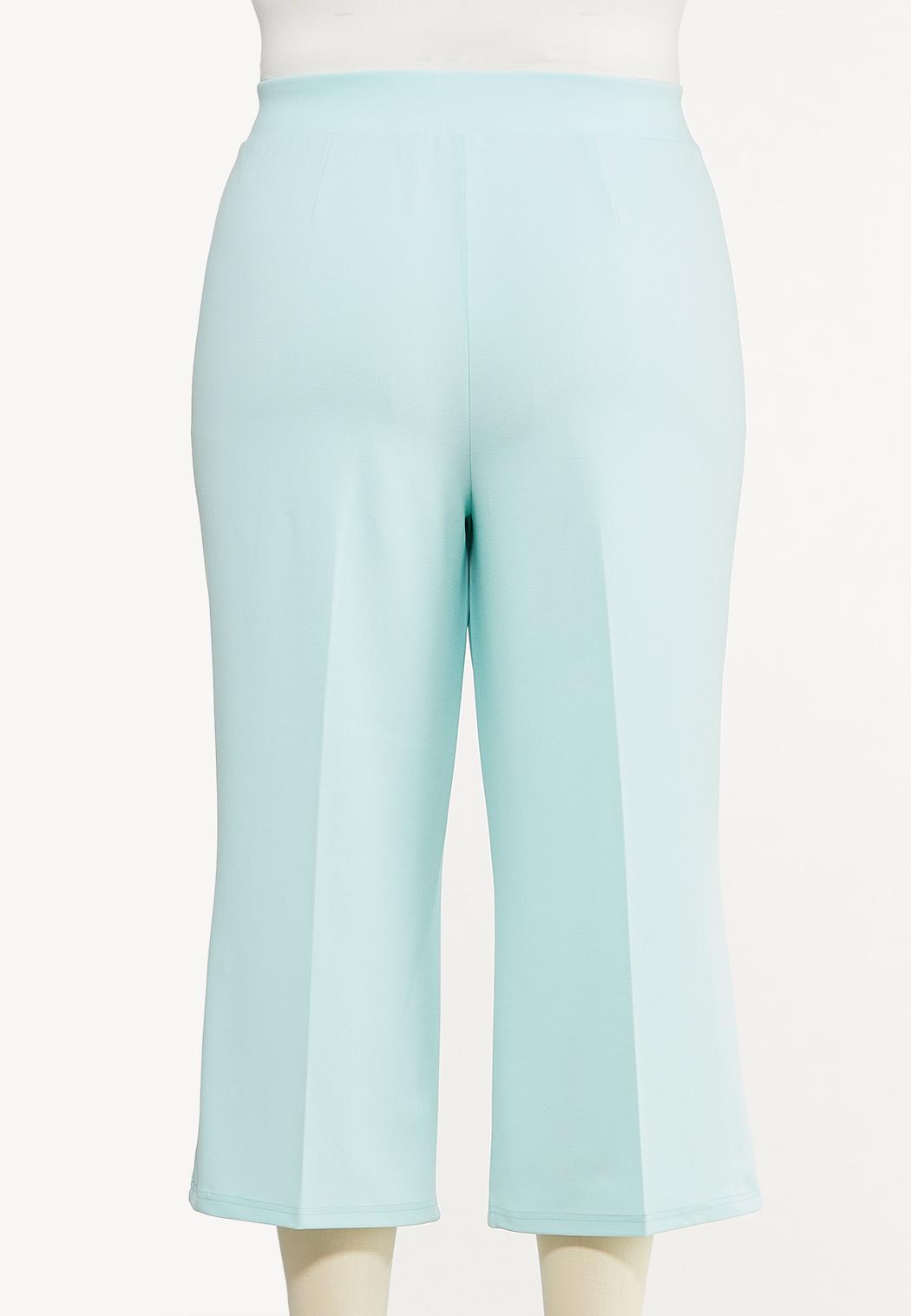 Plus Size Cropped Sailor Pants (Item #44525146)
