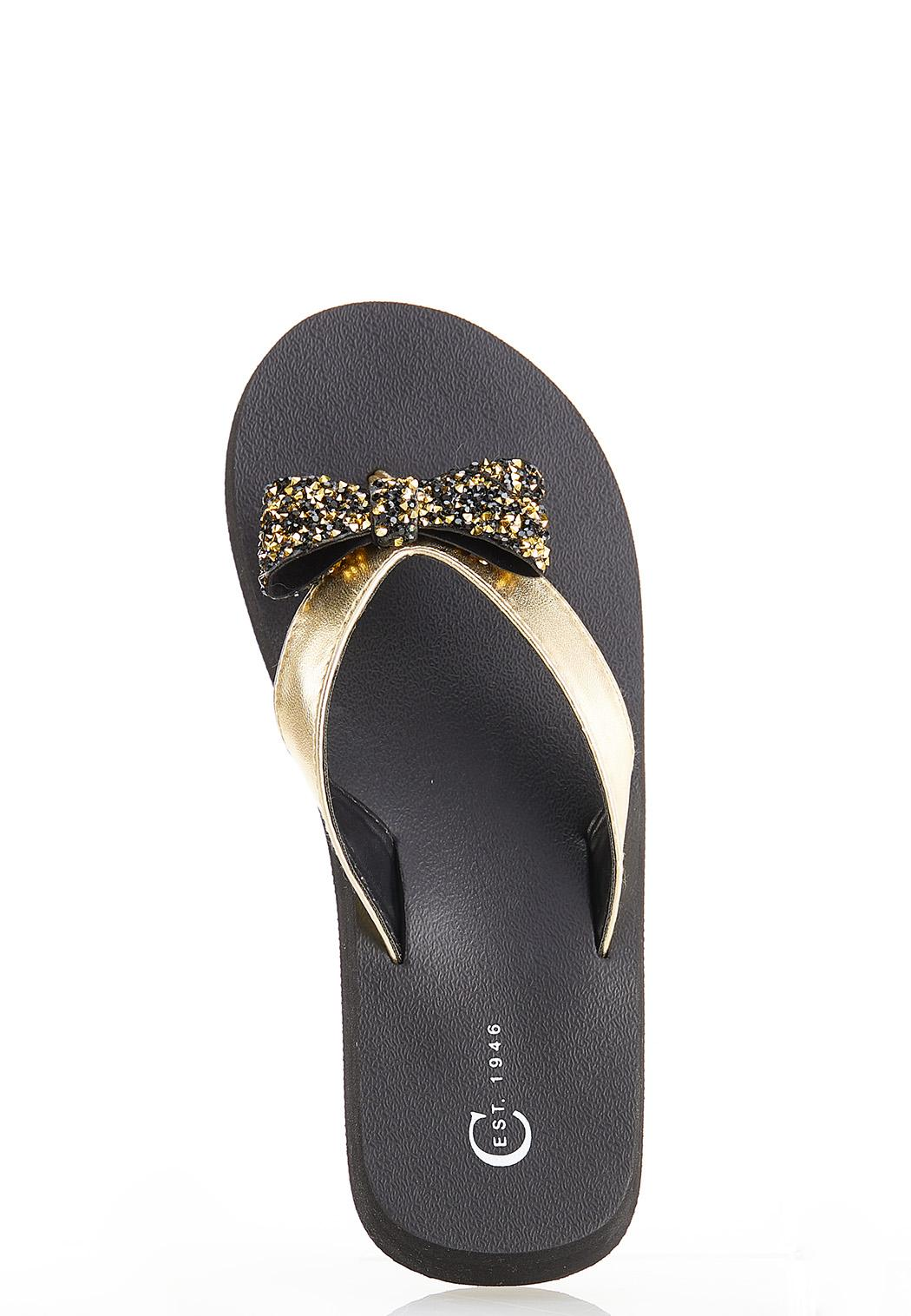 Embellished Bow Flip Flops (Item #44525222)