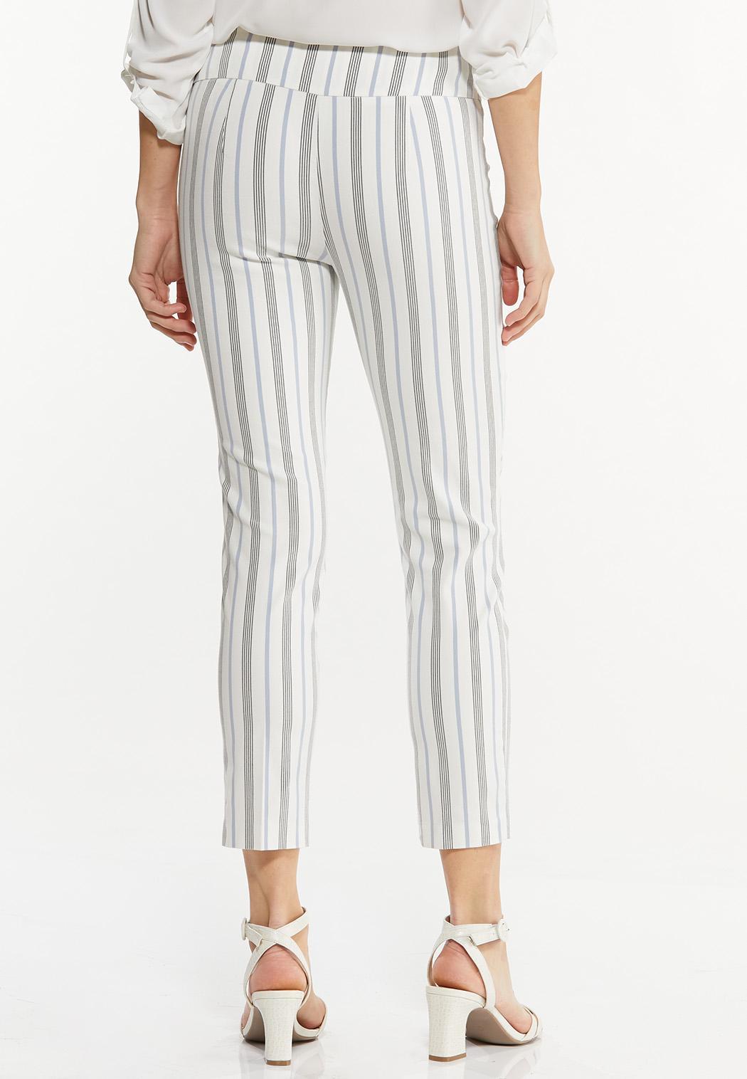 Striped Bengaline Ankle Pants (Item #44525530)