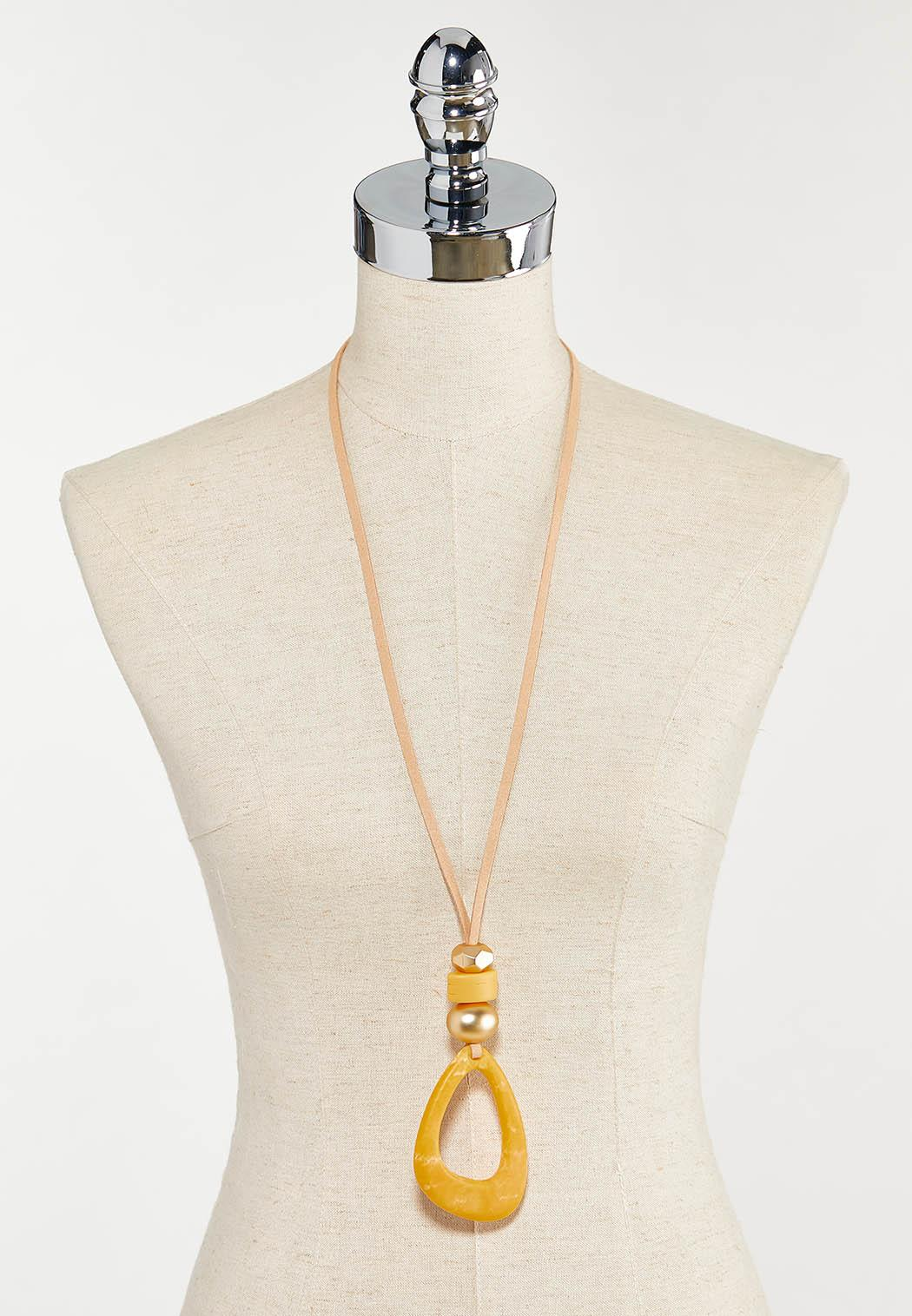 Sunshine Yellow Pendant Necklace (Item #44525640)