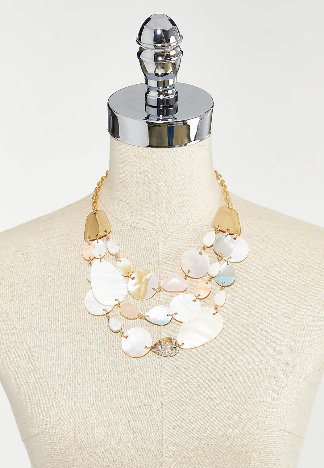 Tiered Shell Stone Necklace (Item #44525744)