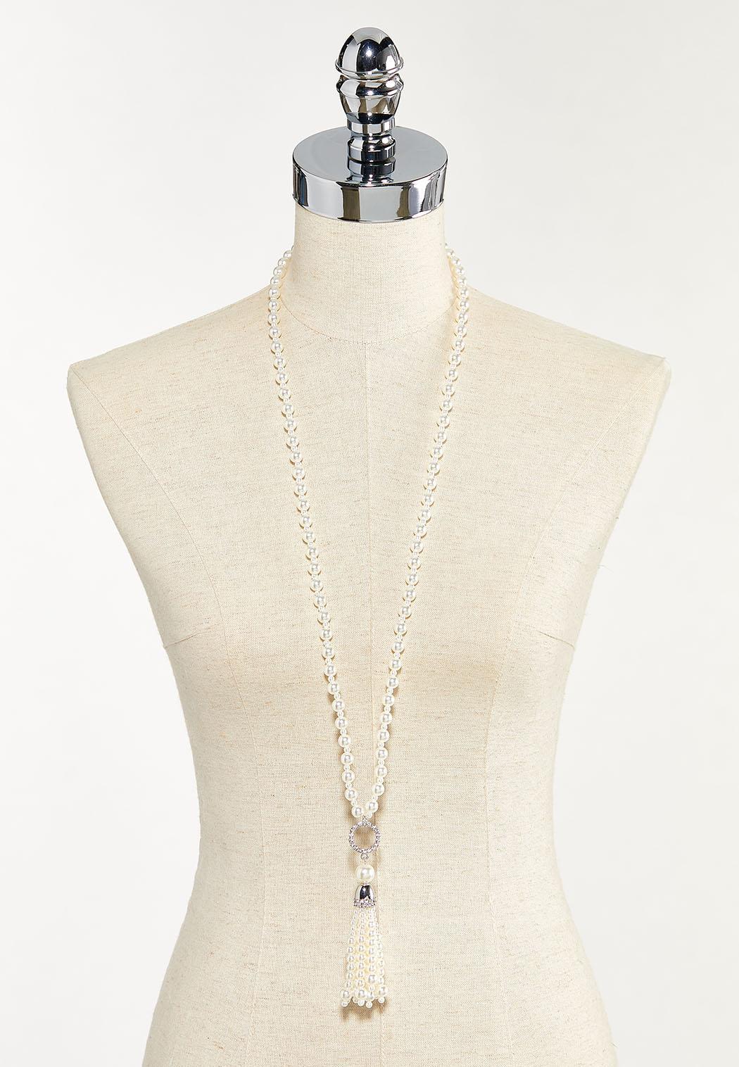 Pearl Tassel Necklace (Item #44526138)