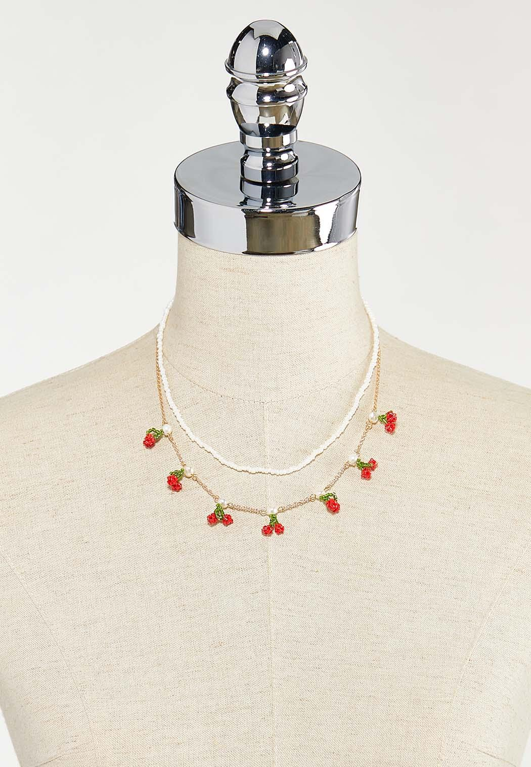 Layered Cherry Pearl Necklace (Item #44526307)