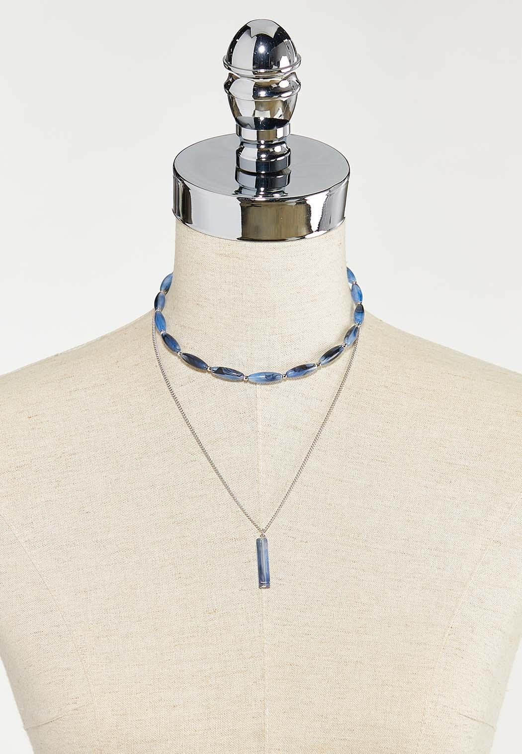 Layered Oval Bead Chain Necklace (Item #44526837)