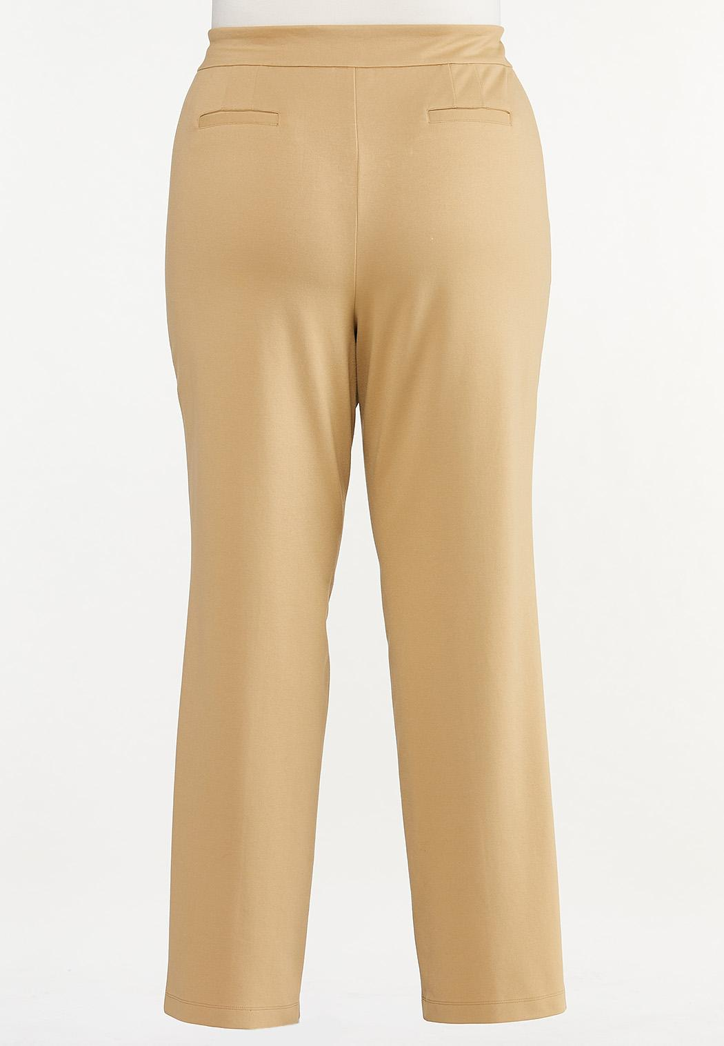Plus Size Straight Leg Ponte Pants (Item #44527344)