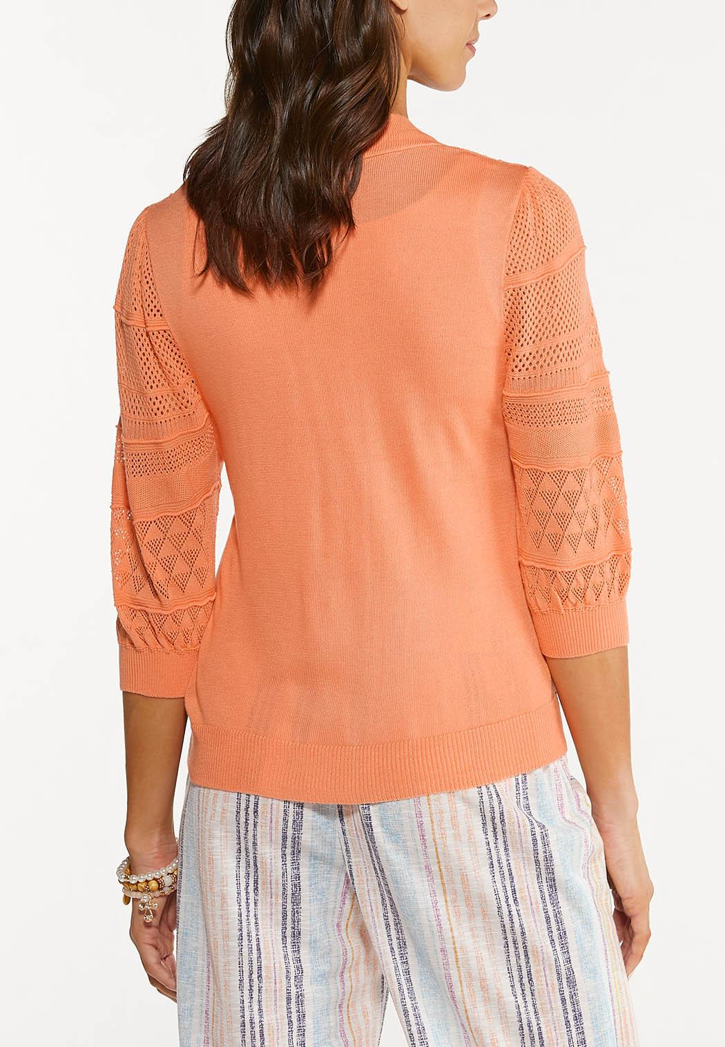 Pointelle Cardigan Sweater (Item #44527671)