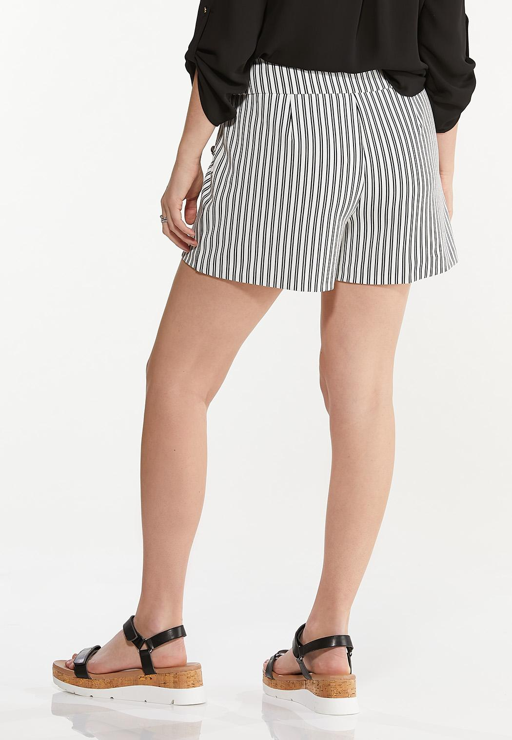 Striped Button Shorts (Item #44527699)