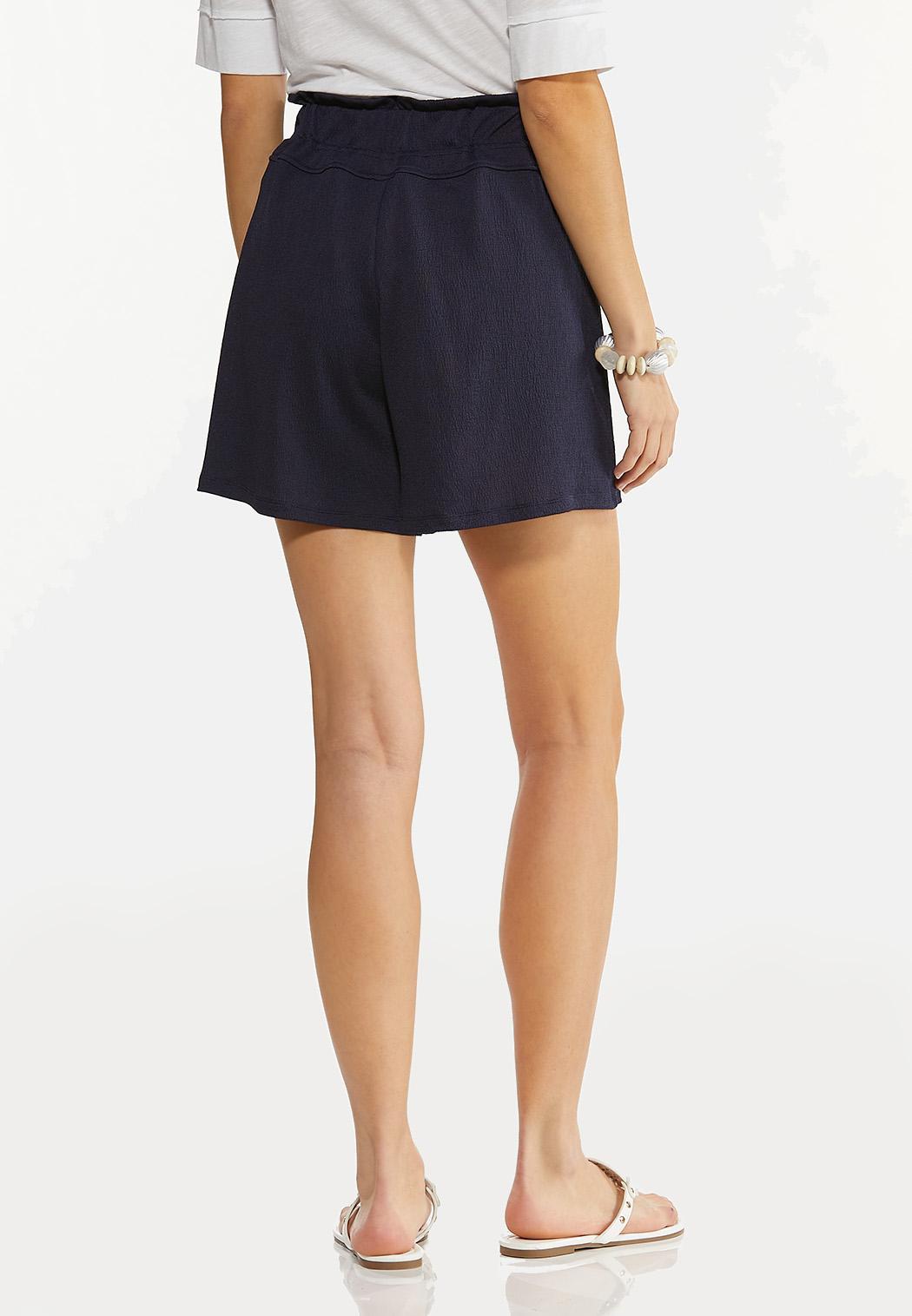 Button Front Gauze Shorts (Item #44527850)