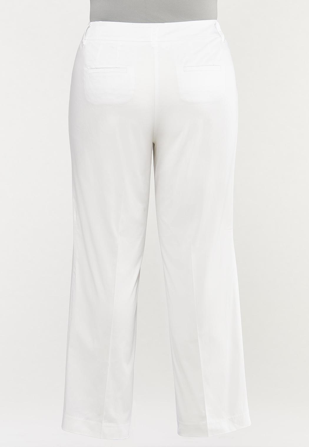 Plus Size Sateen Trouser Pants (Item #44527970)