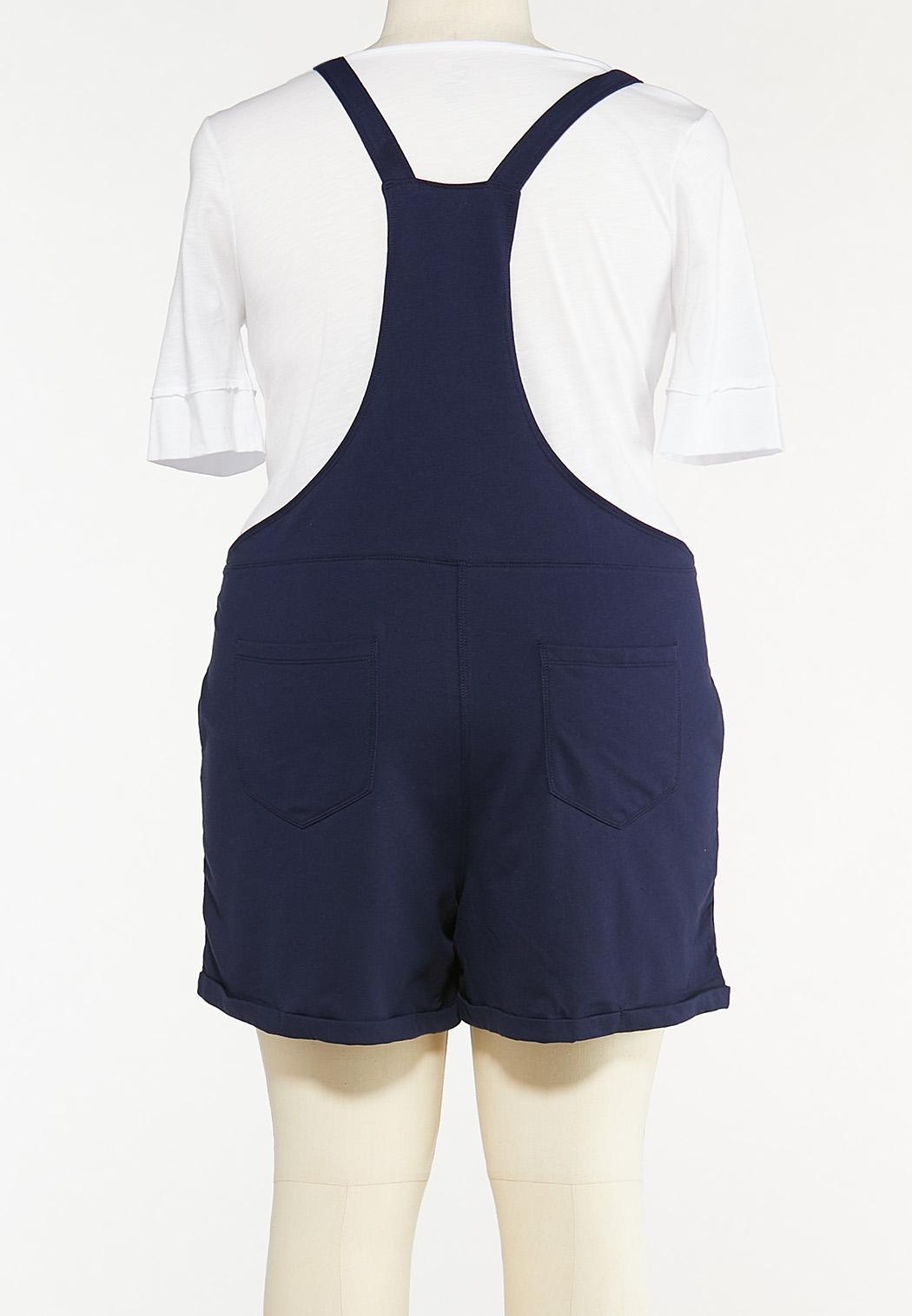 Plus Size Navy Shortalls  (Item #44528275)
