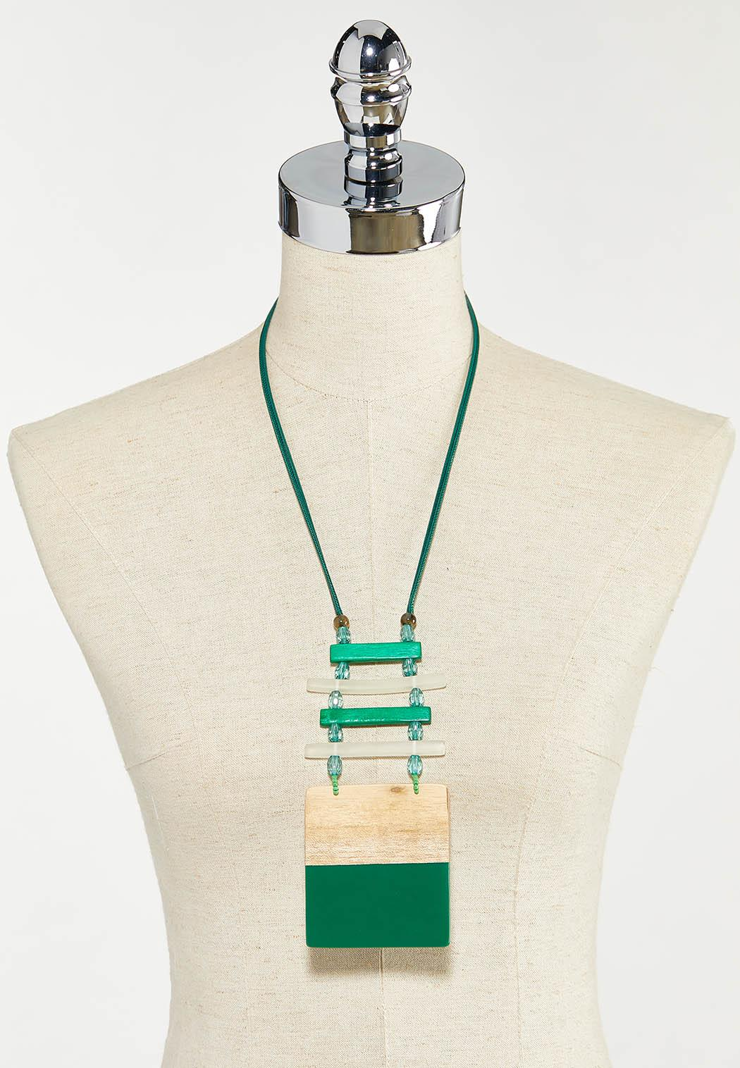 Emerald Wood Pendant Necklace (Item #44528408)