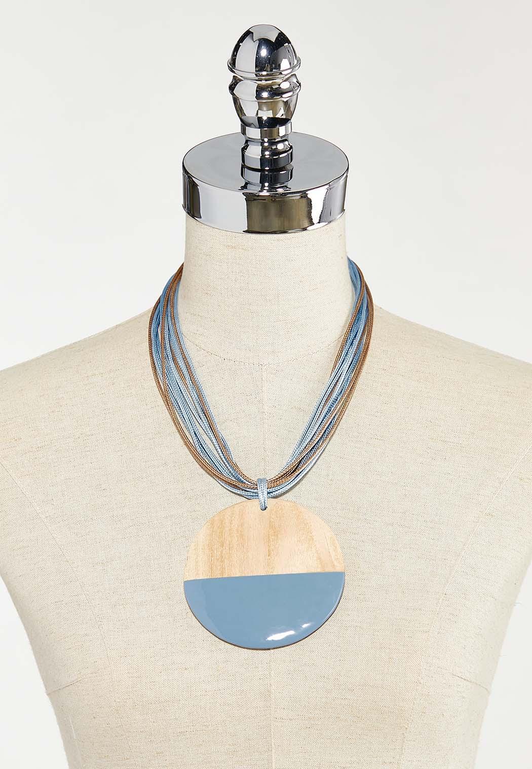 Short Wood Pendant Necklace (Item #44528447)