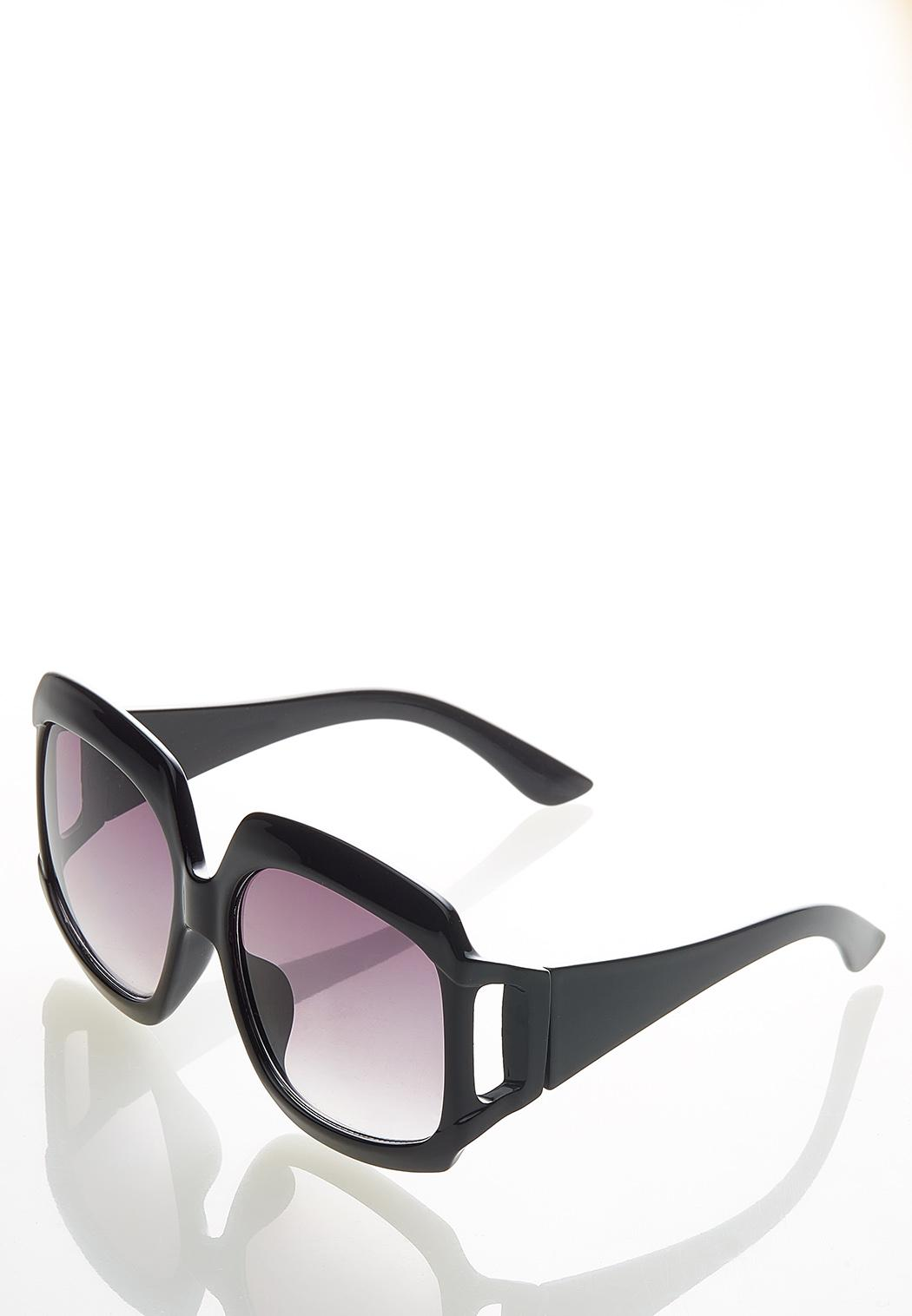 Jackie Oversized Vented Sunglasses (Item #44528928)