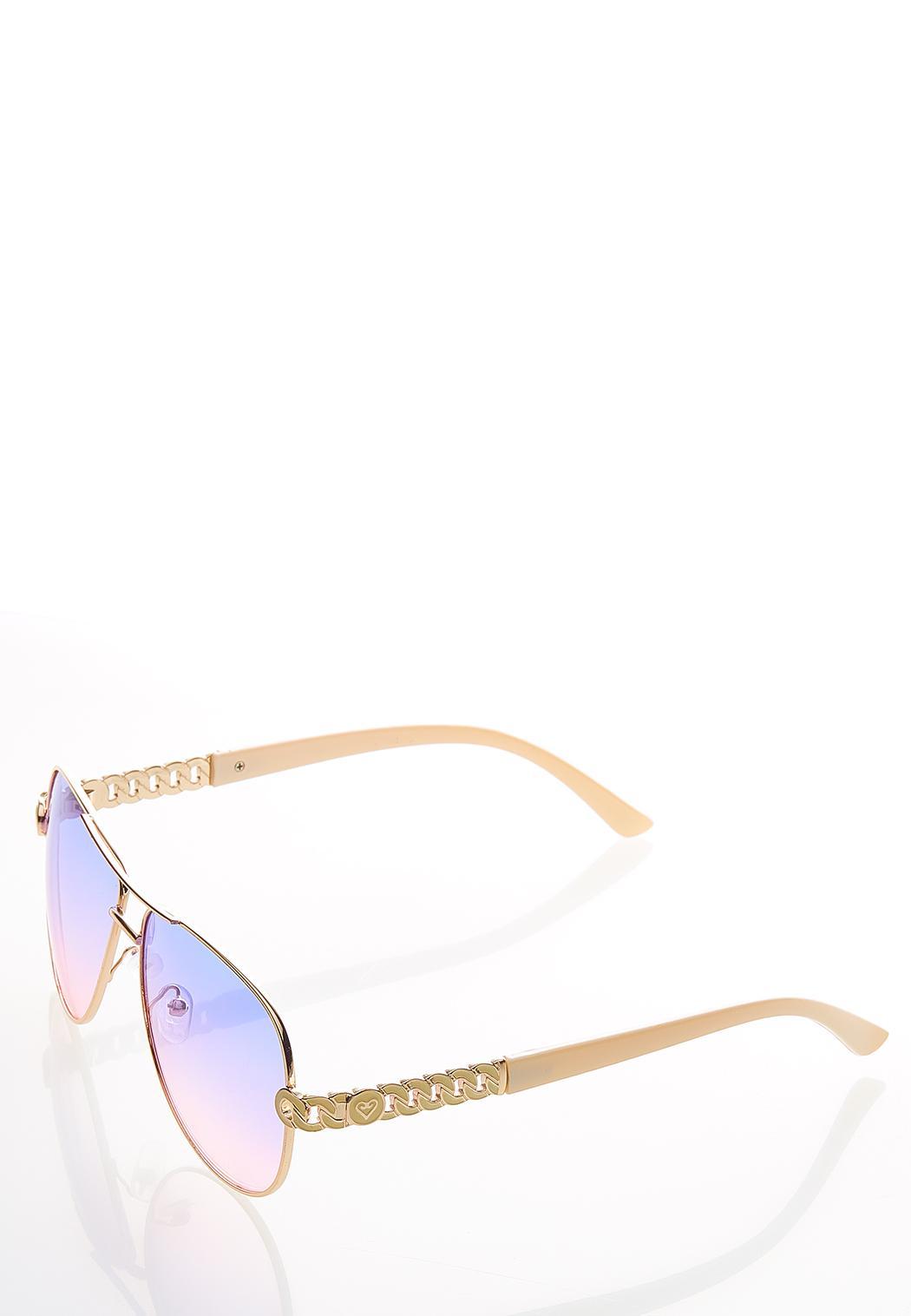 Ombre Aviator Sunglasses (Item #44529424)