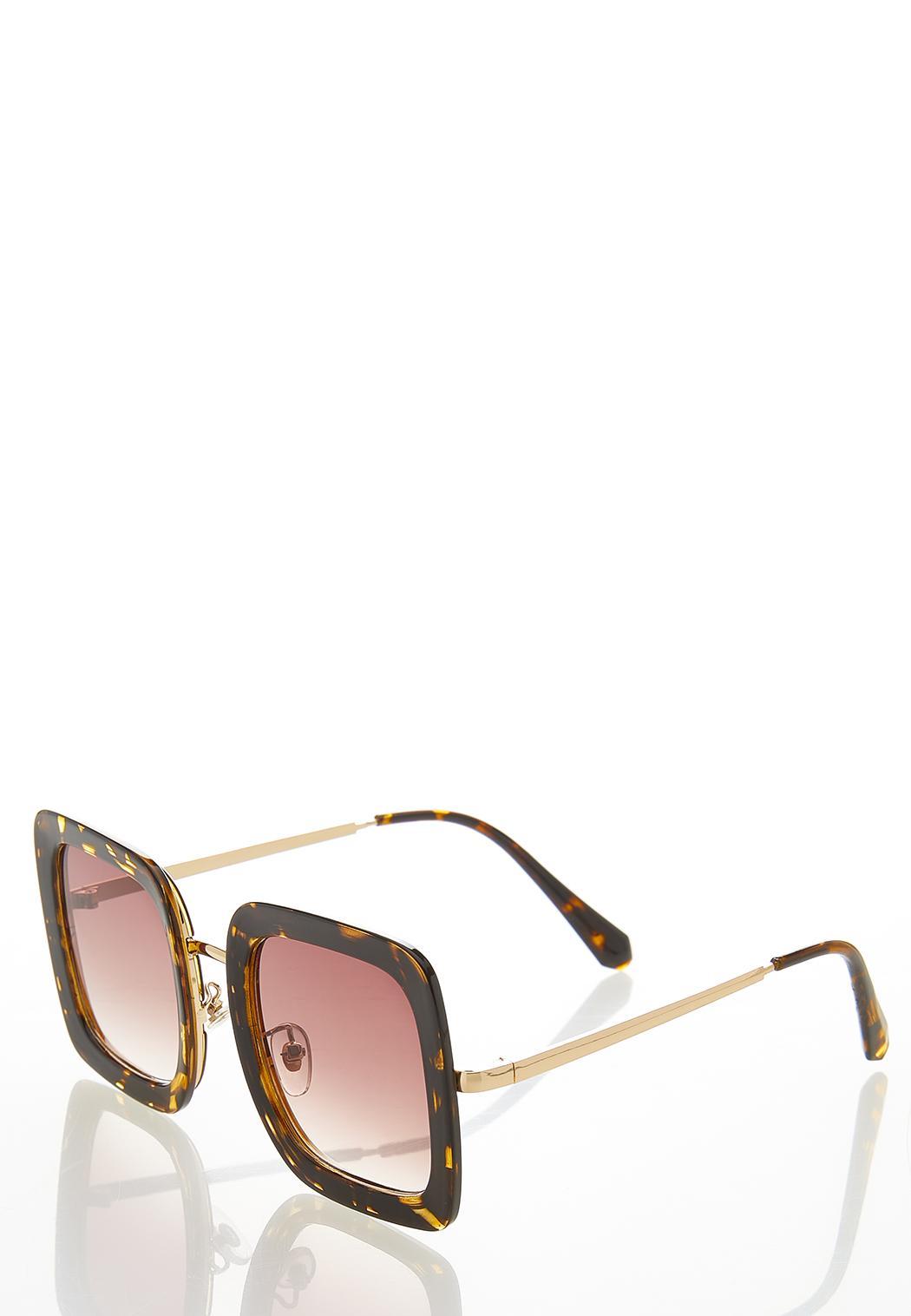 Oversized Tortoise Square Sunglasses (Item #44529444)