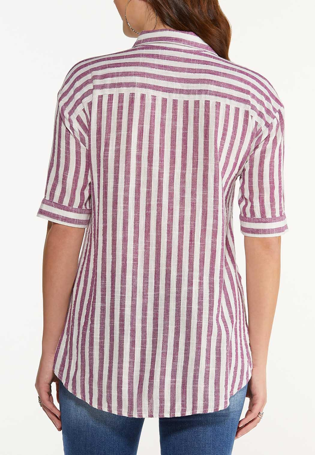 Plus Size Stripe High-Low Top (Item #44529695)