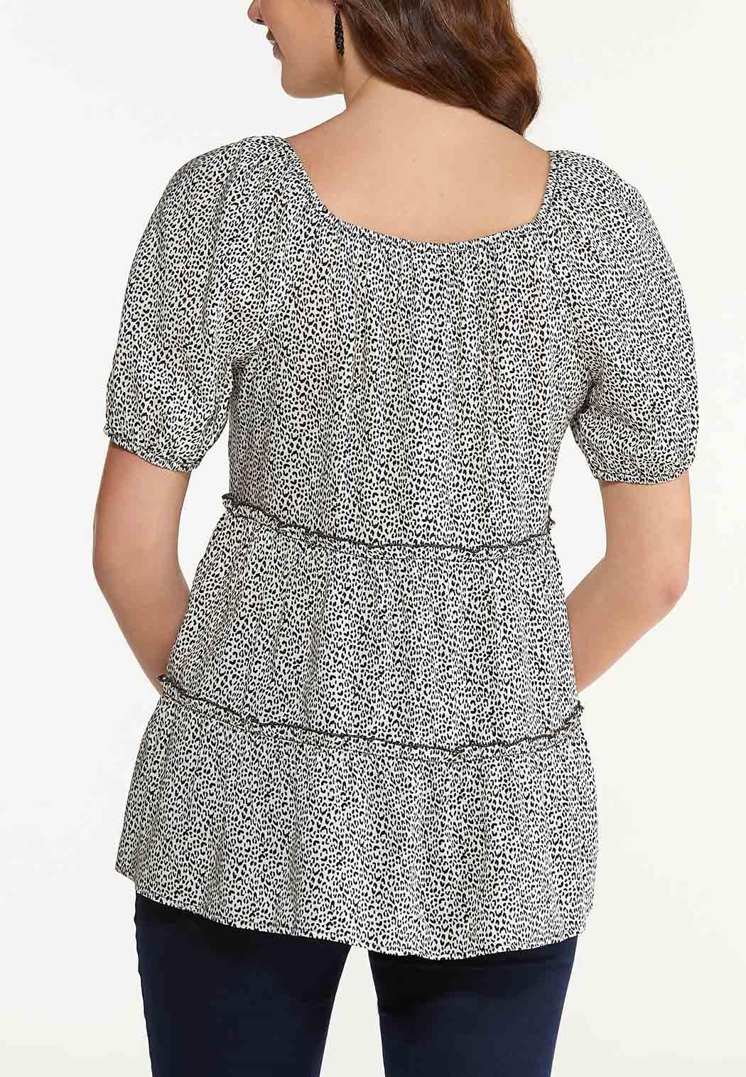Plus Size Wildly Chic Babydoll Top (Item #44530300)