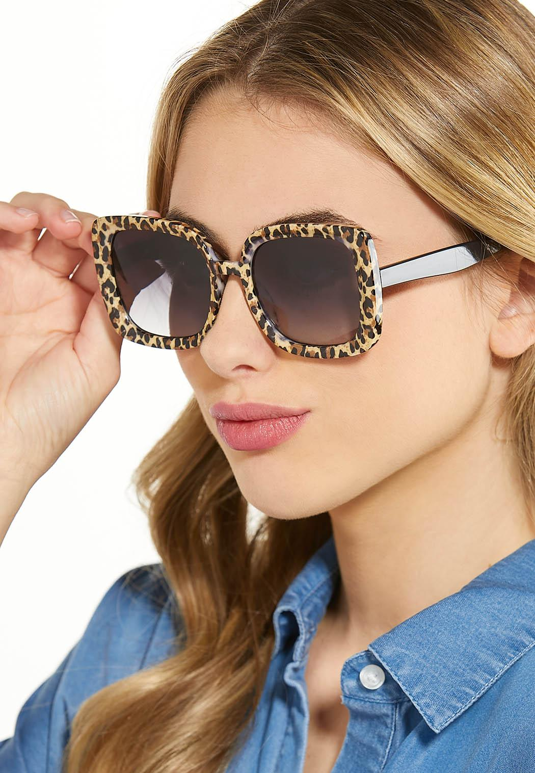 Leopard Square Sunglasses (Item #44530348)