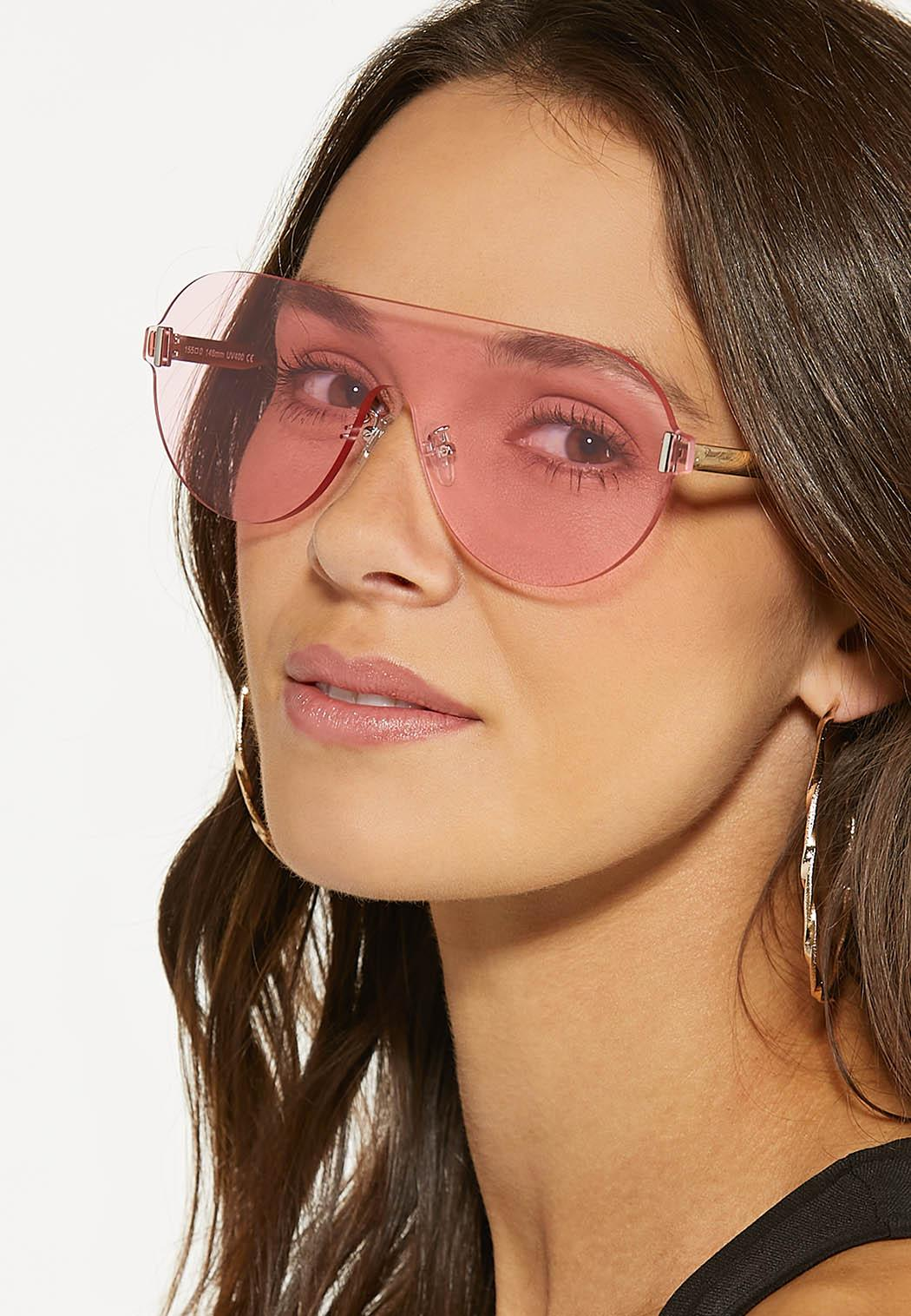 Pink Shield Sunglasses (Item #44530402)