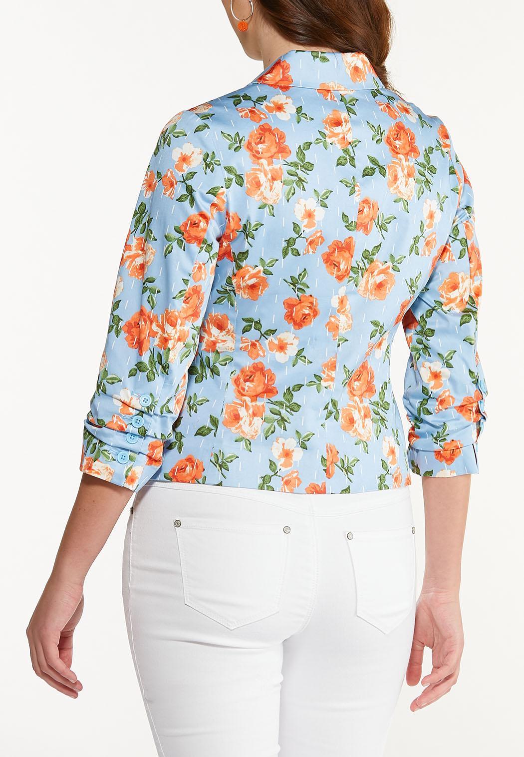 Blue Floral Blazer (Item #44530529)