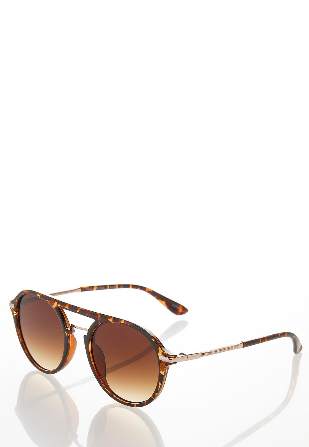 Tortoise Round Sunglasses (Item #44530545)