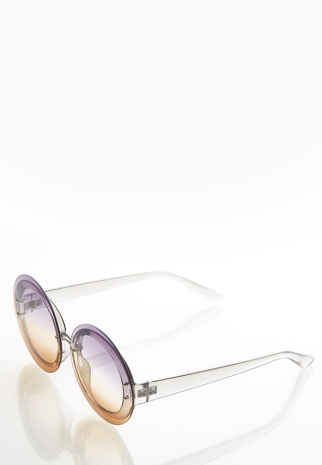 Jenna Ombre Round Sunglasses (Item #44530556)