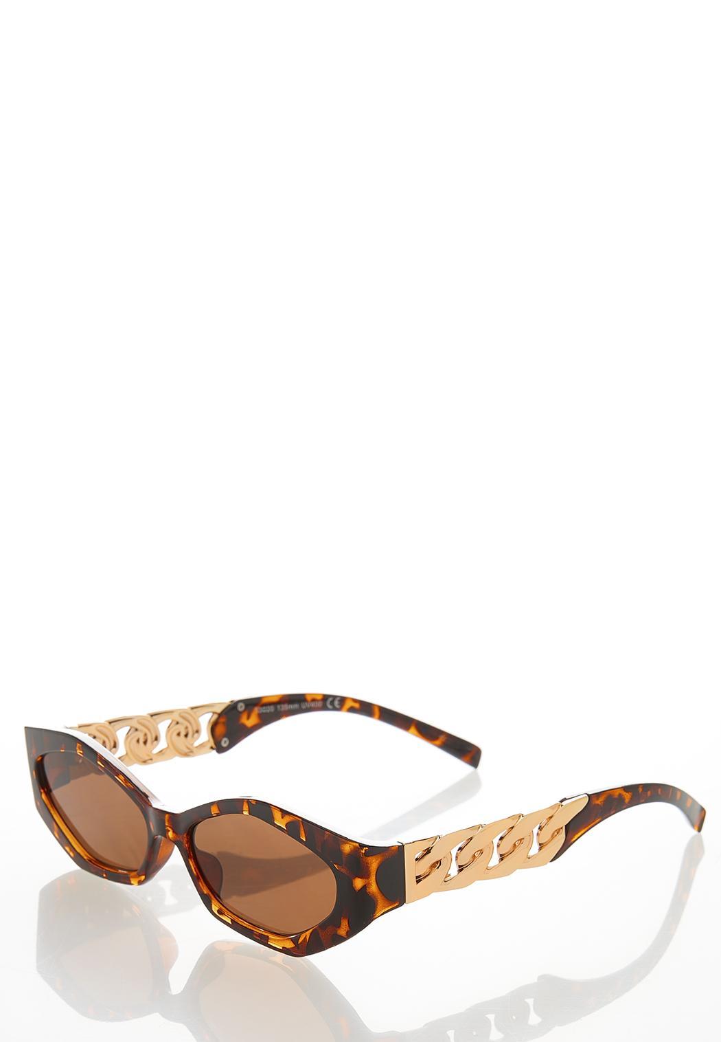 Chain Link Tortoise Sunglasses (Item #44530566)
