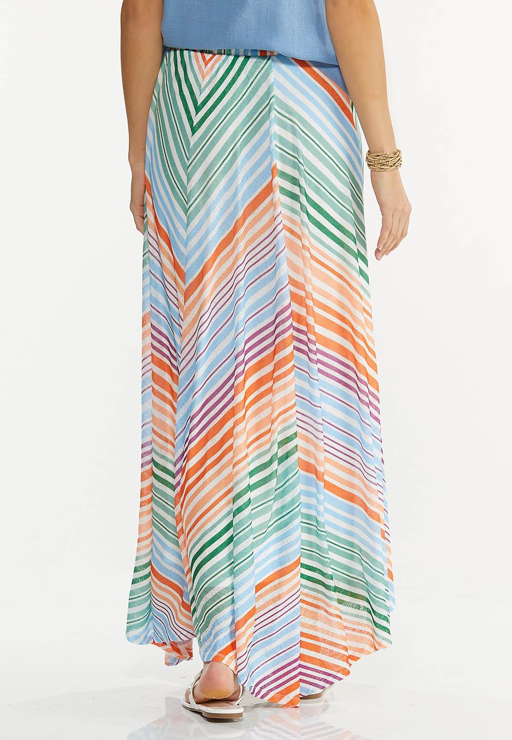 Chevron Stripe Maxi Skirt (Item #44530653)