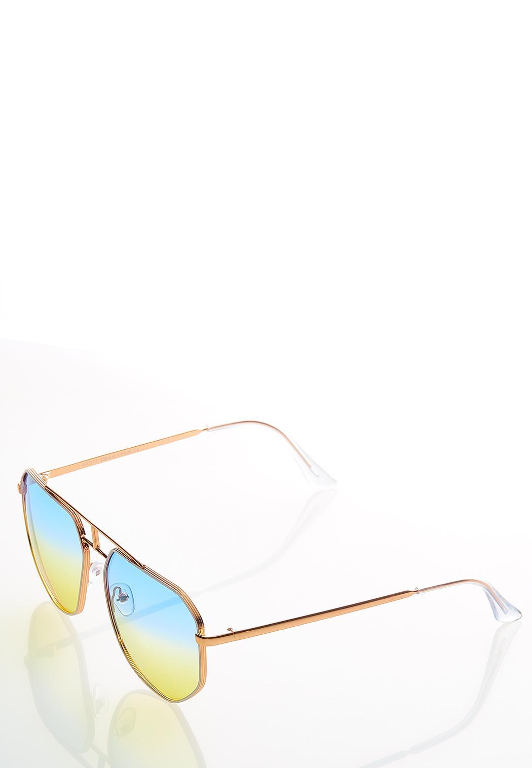 Jenelle Ombre Aviator Sunglasses (Item #44530658)