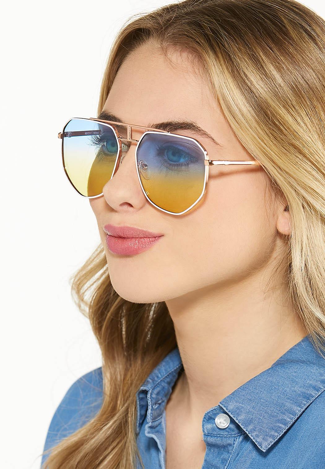 Ombre Ocean Aviator Sunglasses (Item #44530658)