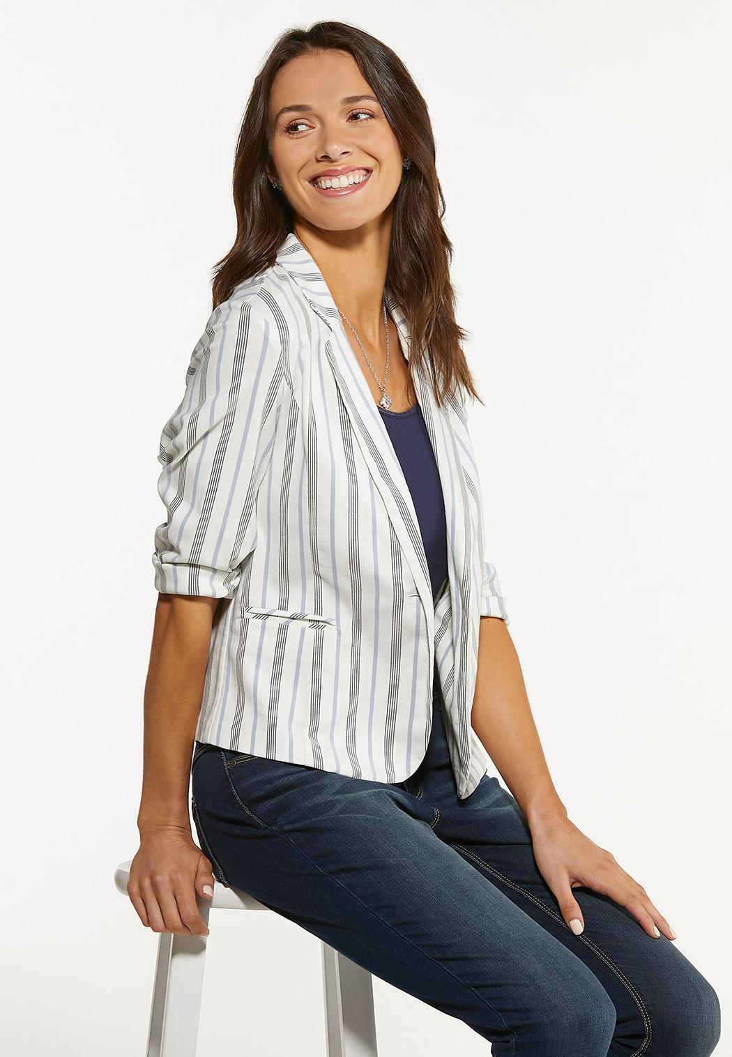 Striped Bengaline Blazer (Item #44530679)