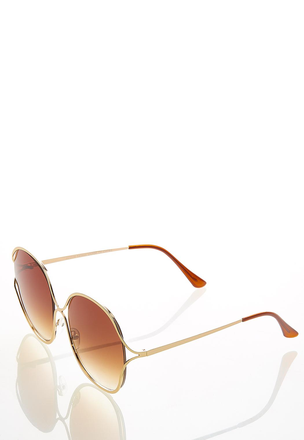Josie Oversized Round Sunglasses (Item #44530771)