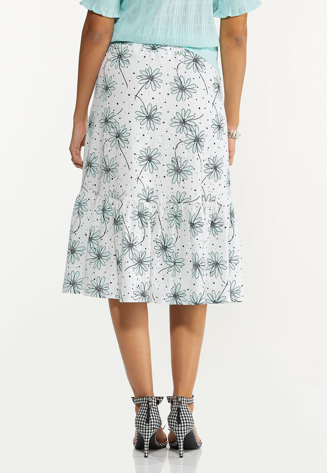 Daisy Eyelet Midi Skirt (Item #44530990)