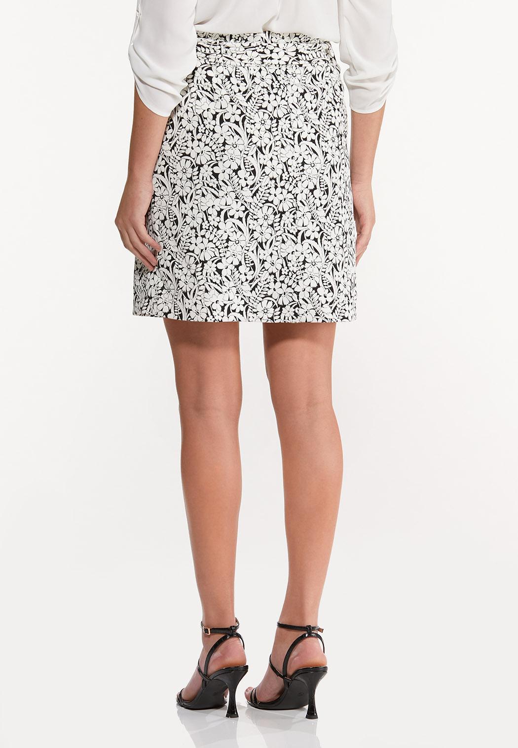 Stretch Floral Skirt (Item #44531032)