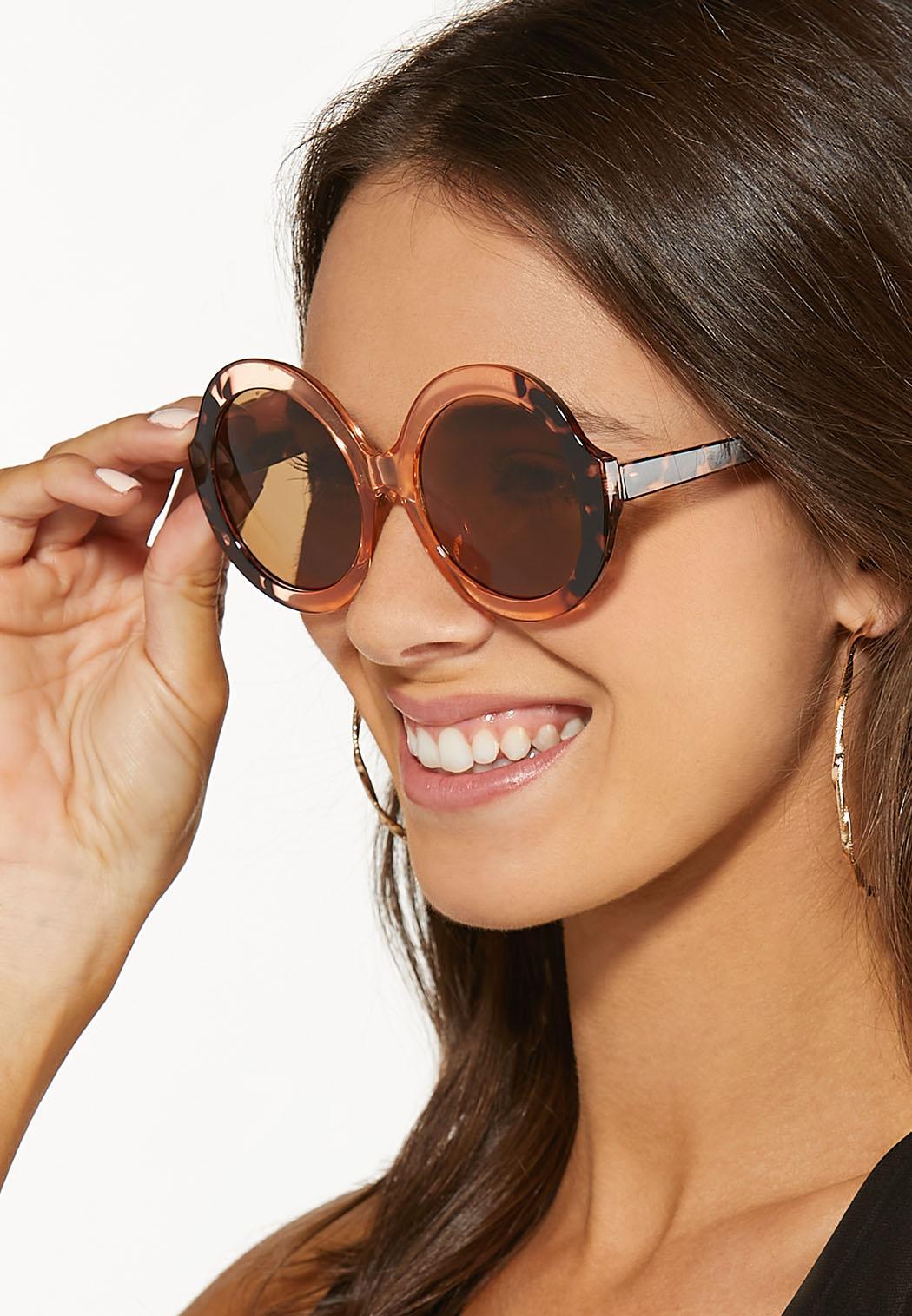 Lucite Tortoise Round Sunglasses (Item #44531805)