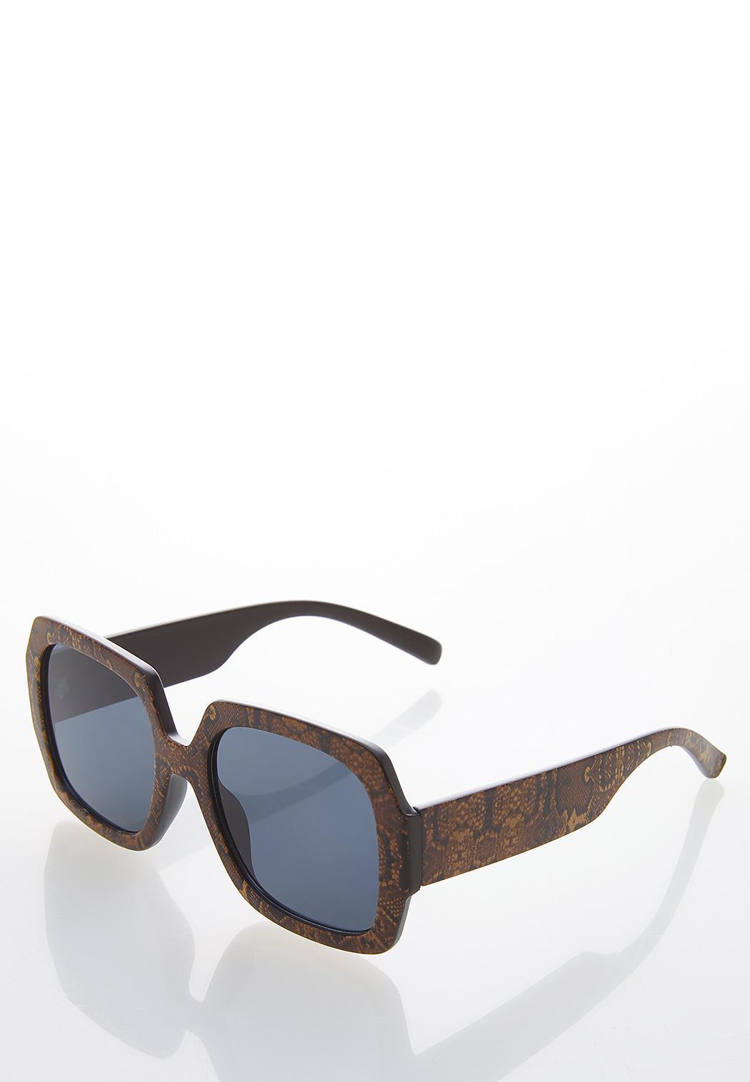 Snakeskin Square Sunglasses (Item #44532132)