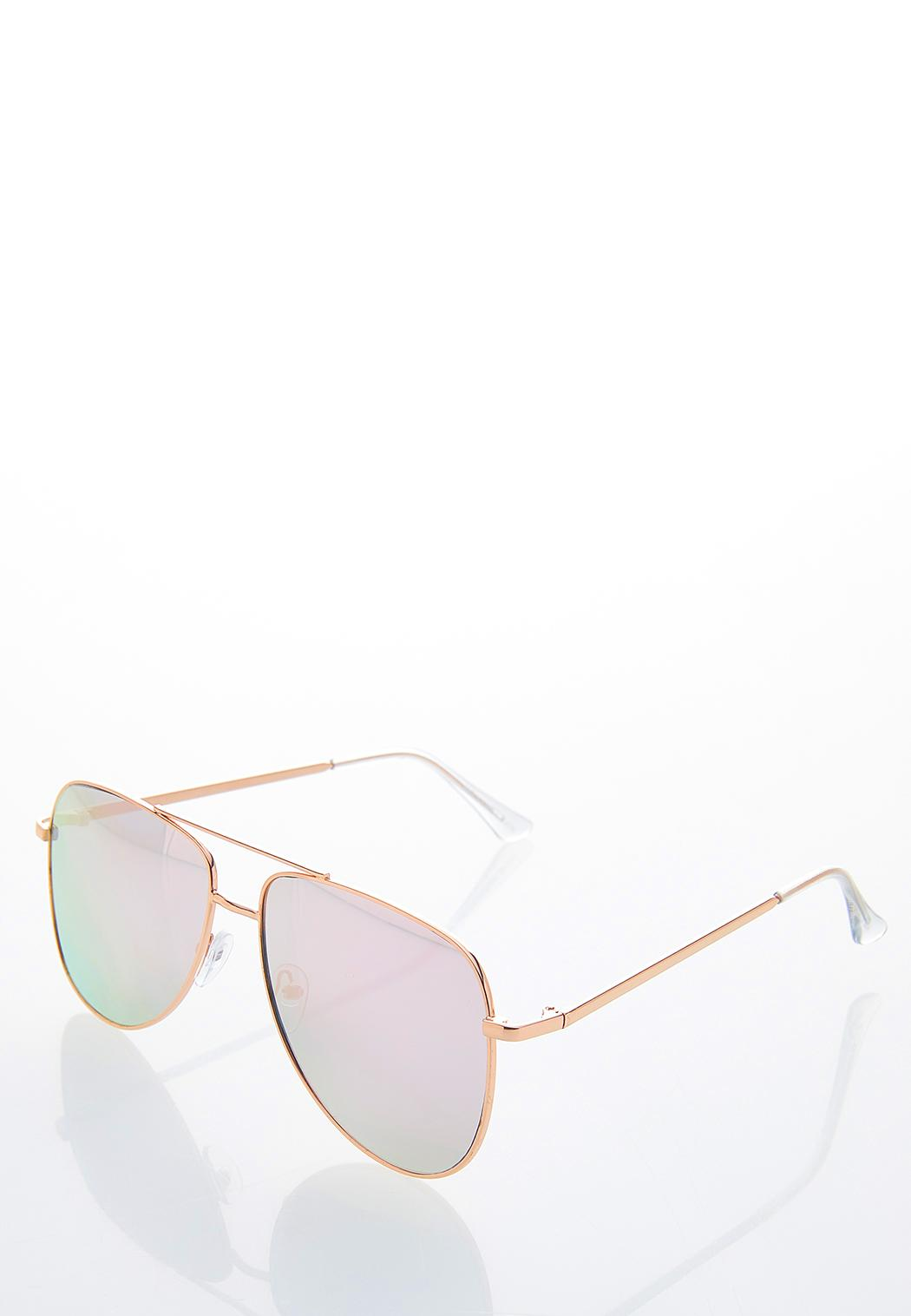 Rose Gold Aviator Sunglasses (Item #44532145)