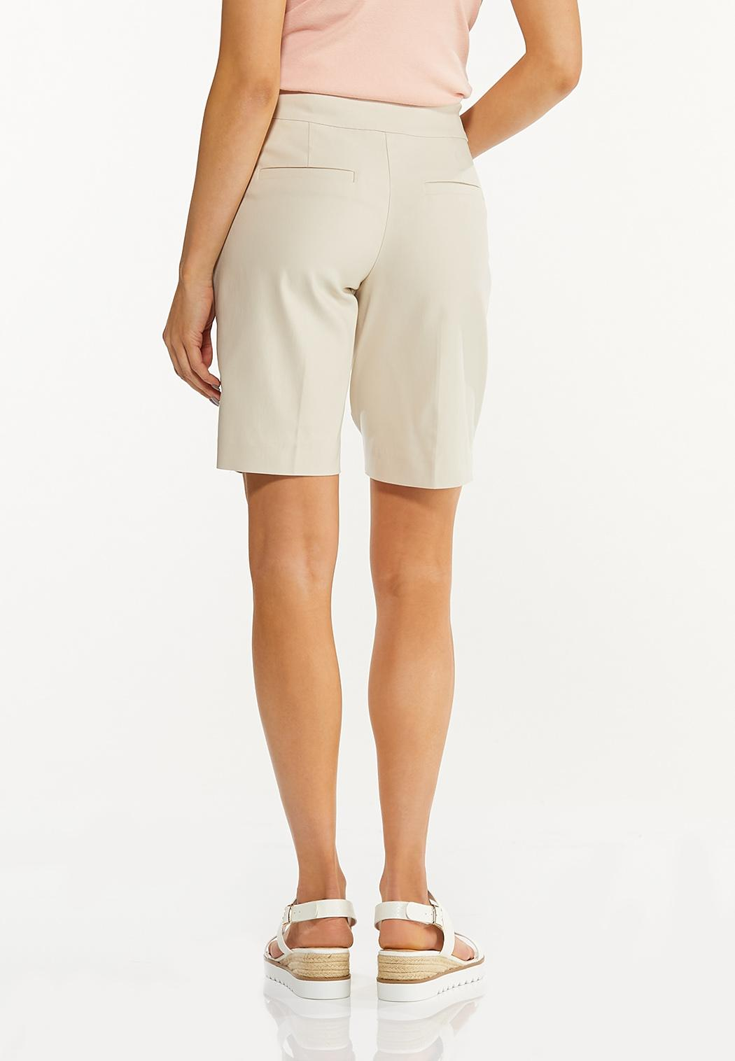 Solid Bengaline Bermuda Shorts (Item #44533892)