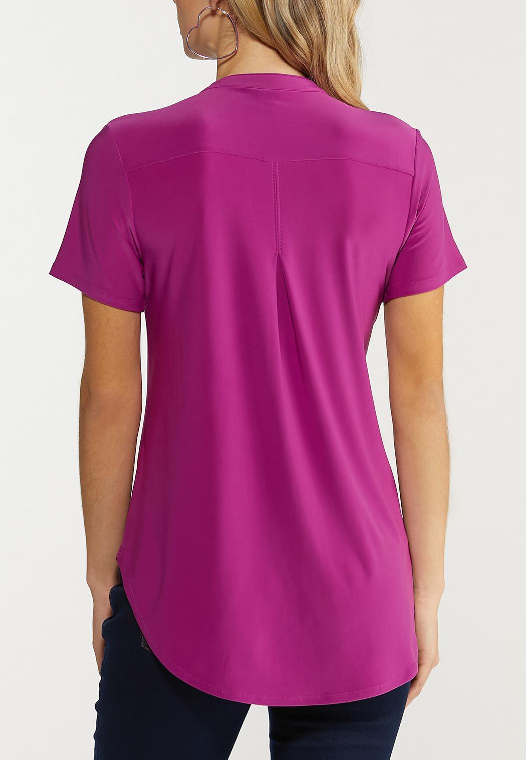 Plus Size Vibrant Stretch Top (Item #44534149)